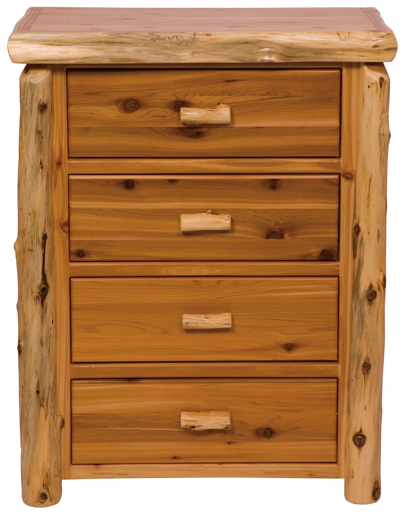 Traditional cedar canopy bedroom set from fireside lodge 10060 coleman furniture - Cedar bedroom furniture ...