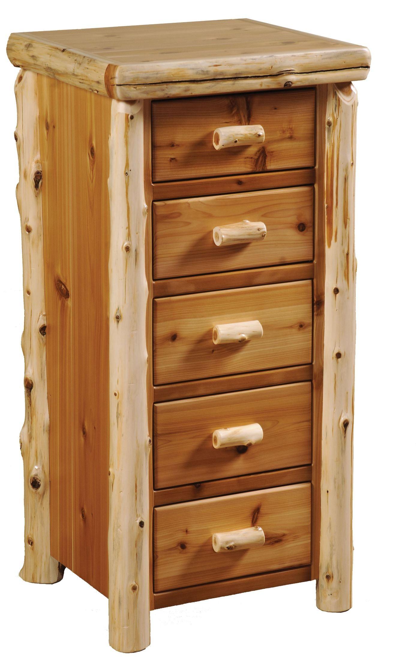 Traditional cedar youth log bedroom set from fireside lodge 10100 coleman furniture - Cedar bedroom furniture ...