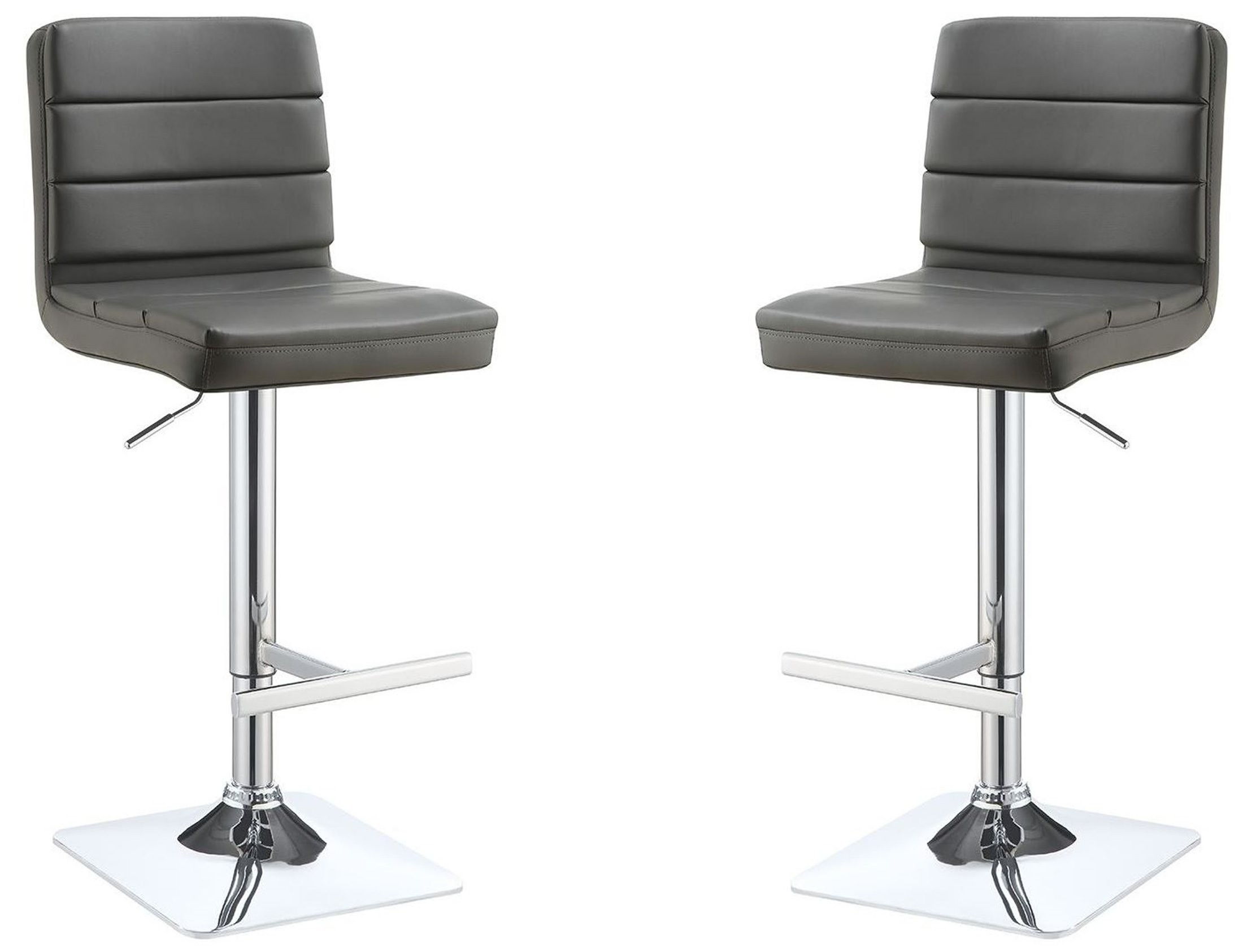 Grey Adjustable Bar Stool Set of 2 from Coaster 120696  : 120696 b1 from colemanfurniture.com size 2200 x 1685 jpeg 195kB