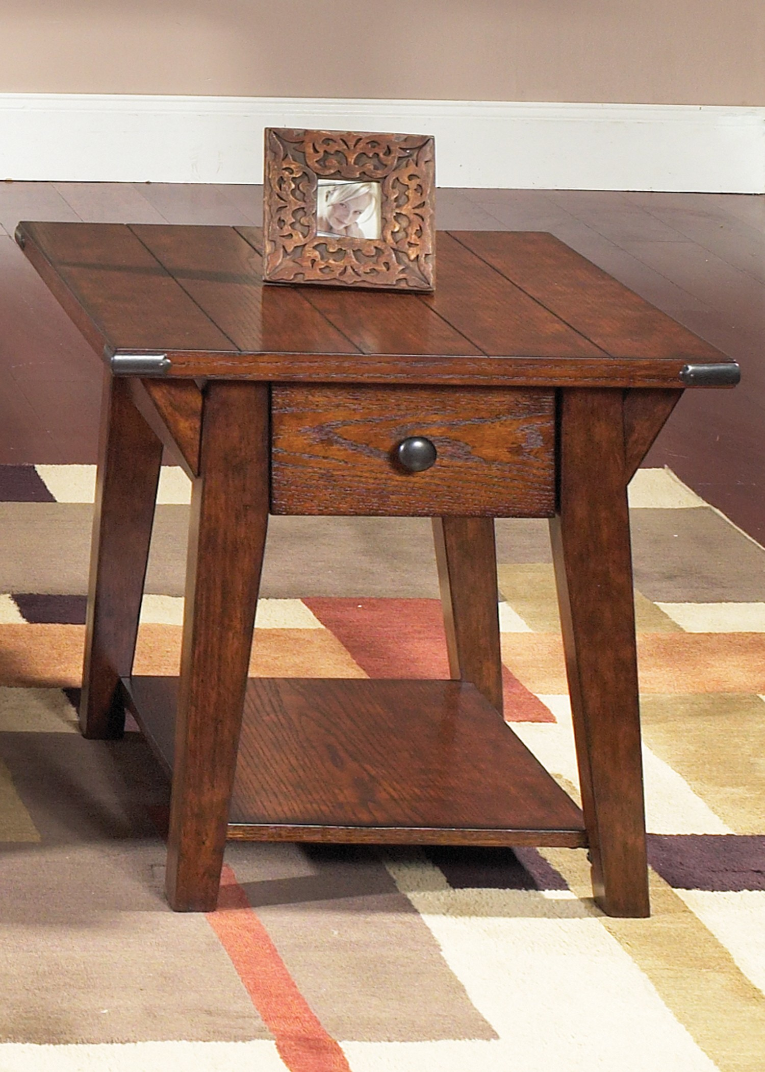 Cabin Fever Drawer End Table From Liberty 121 Ot1020