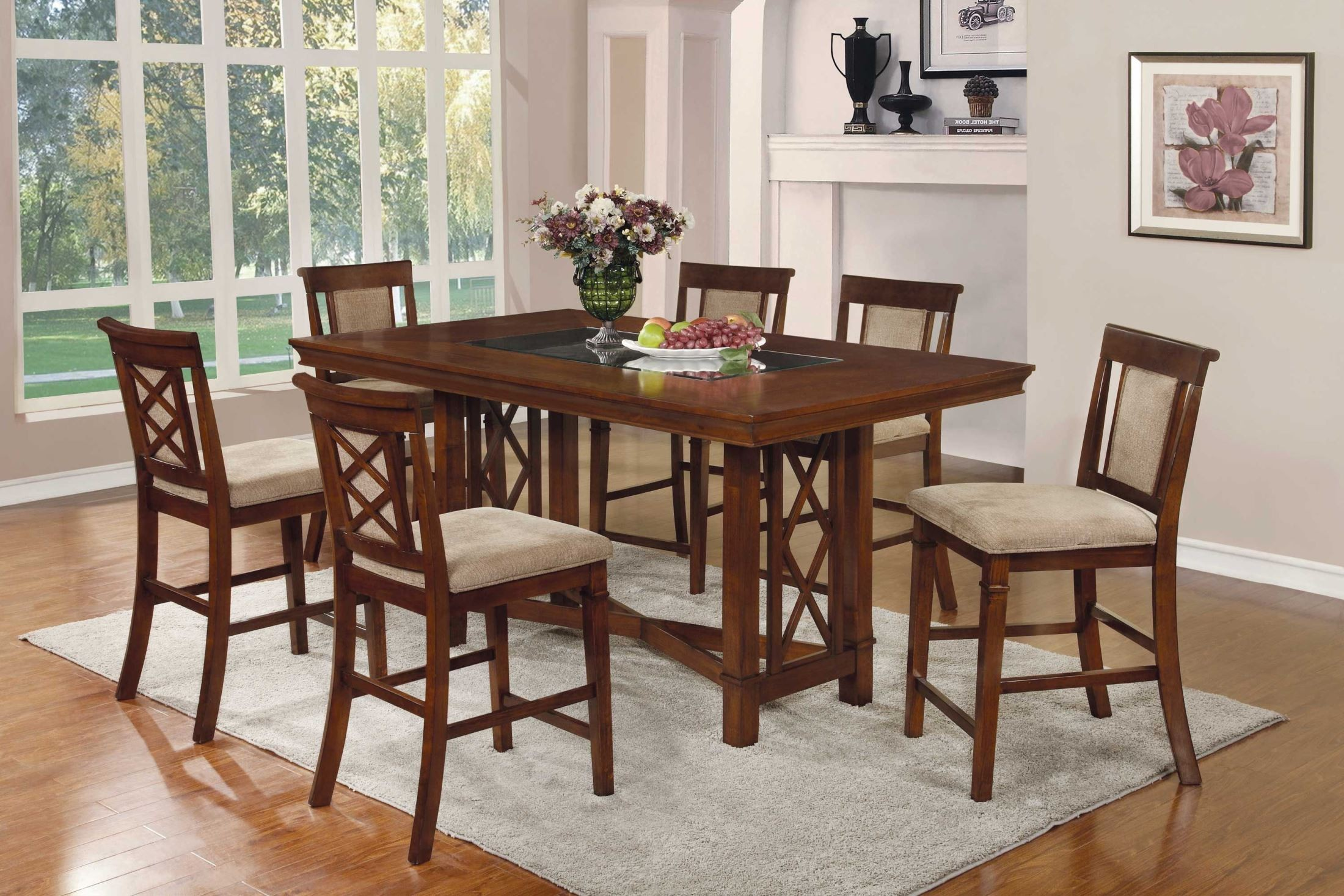 Pembrook Counter Height Rectangular Dining Room Set from Coaster ...