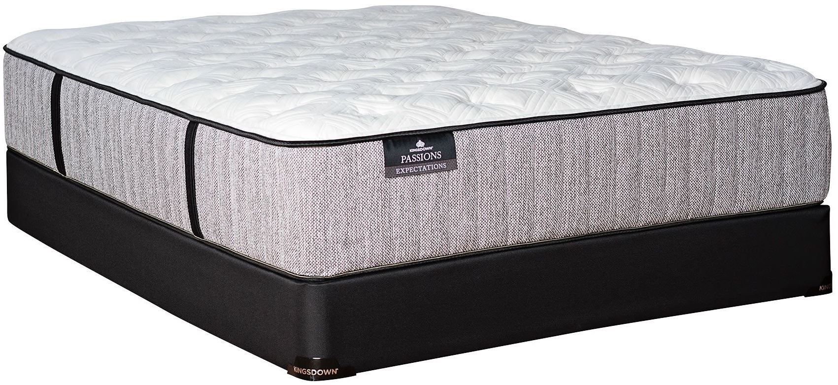 passions expectations plush full extra long mattress with foundation 816 1220 fxl fnd kingsdown. Black Bedroom Furniture Sets. Home Design Ideas