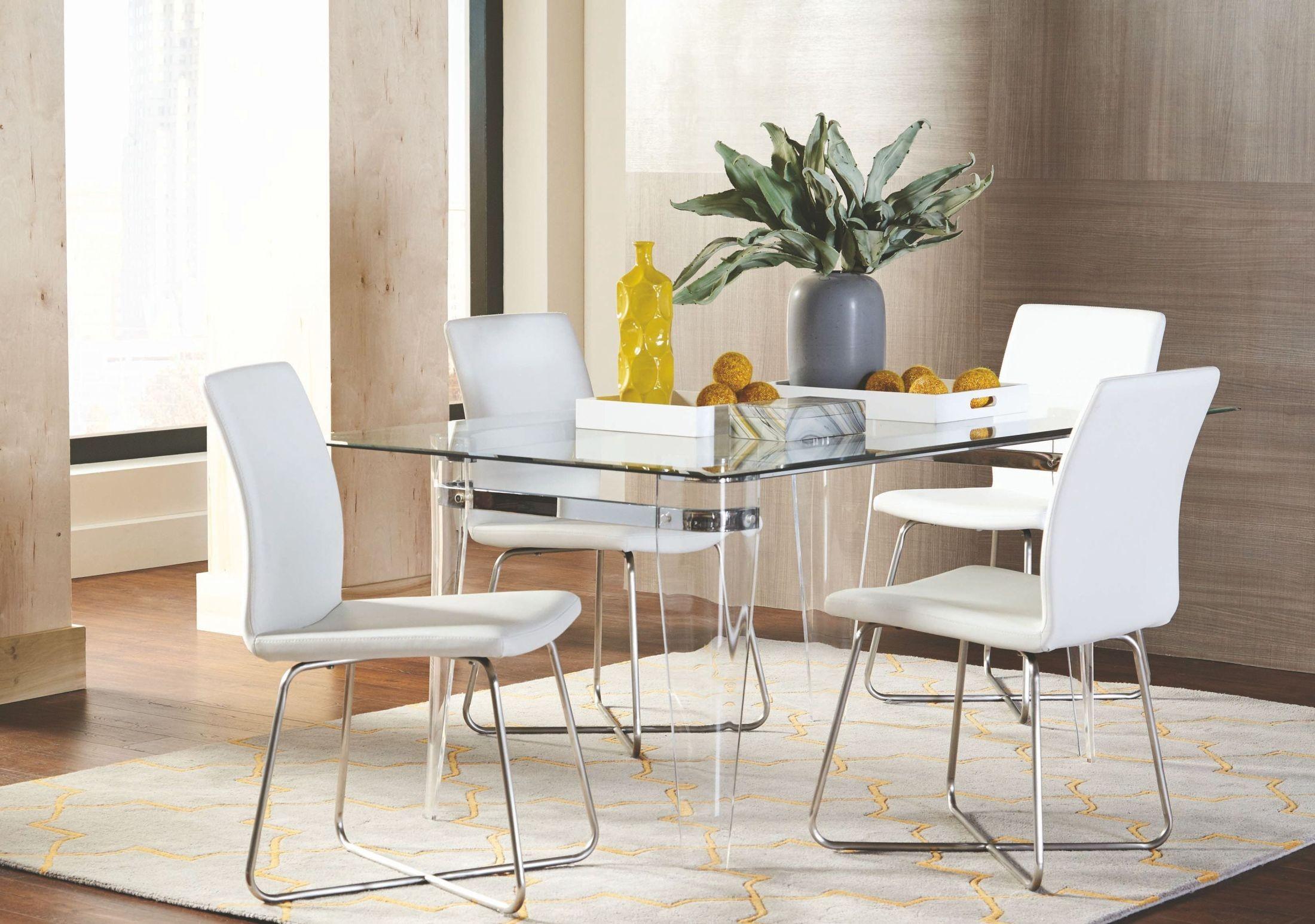 michonne acrylic legs rectangular dining room set 122151 acrylic dining room furniture www imgarcade com online