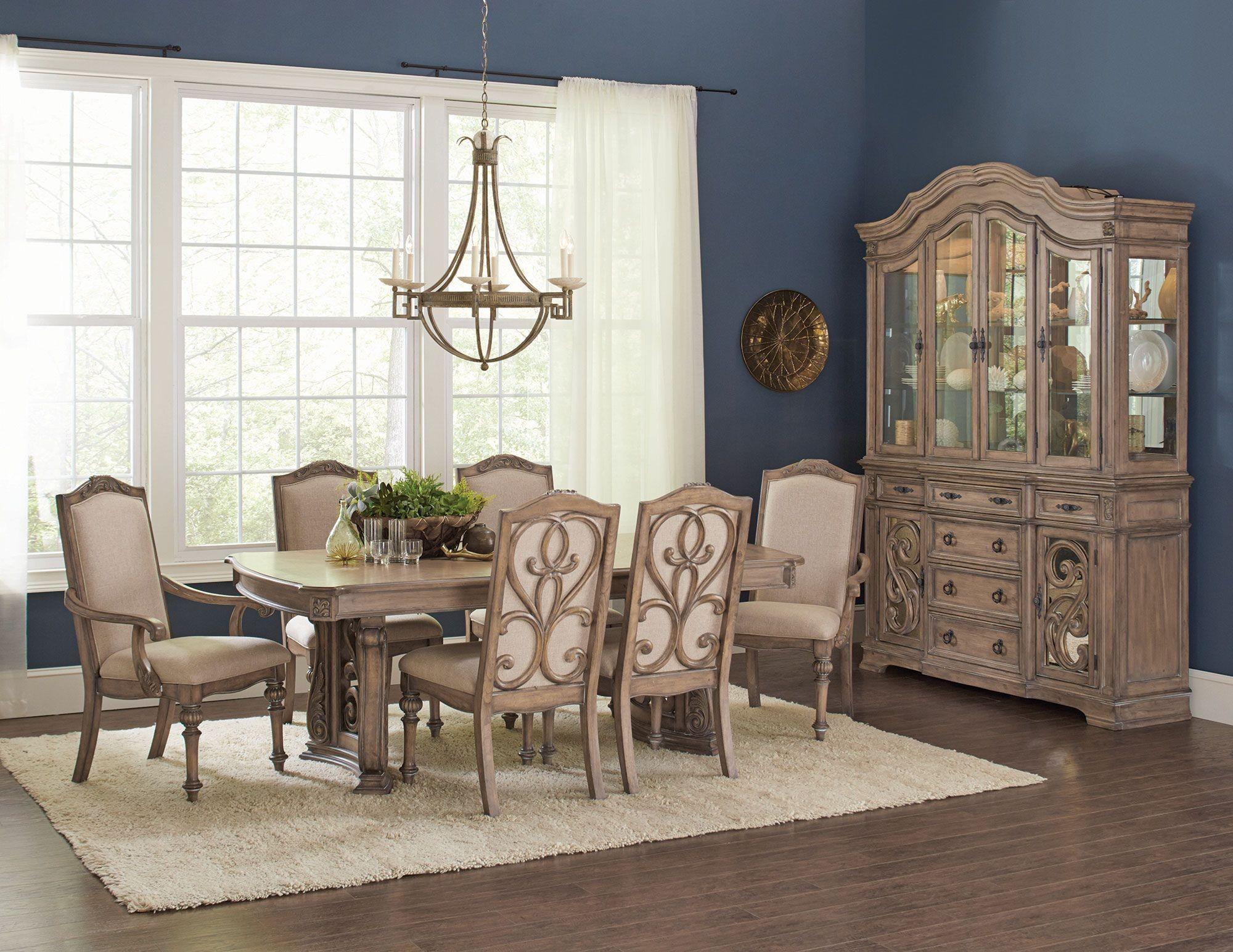 ilana antique linen dining room set