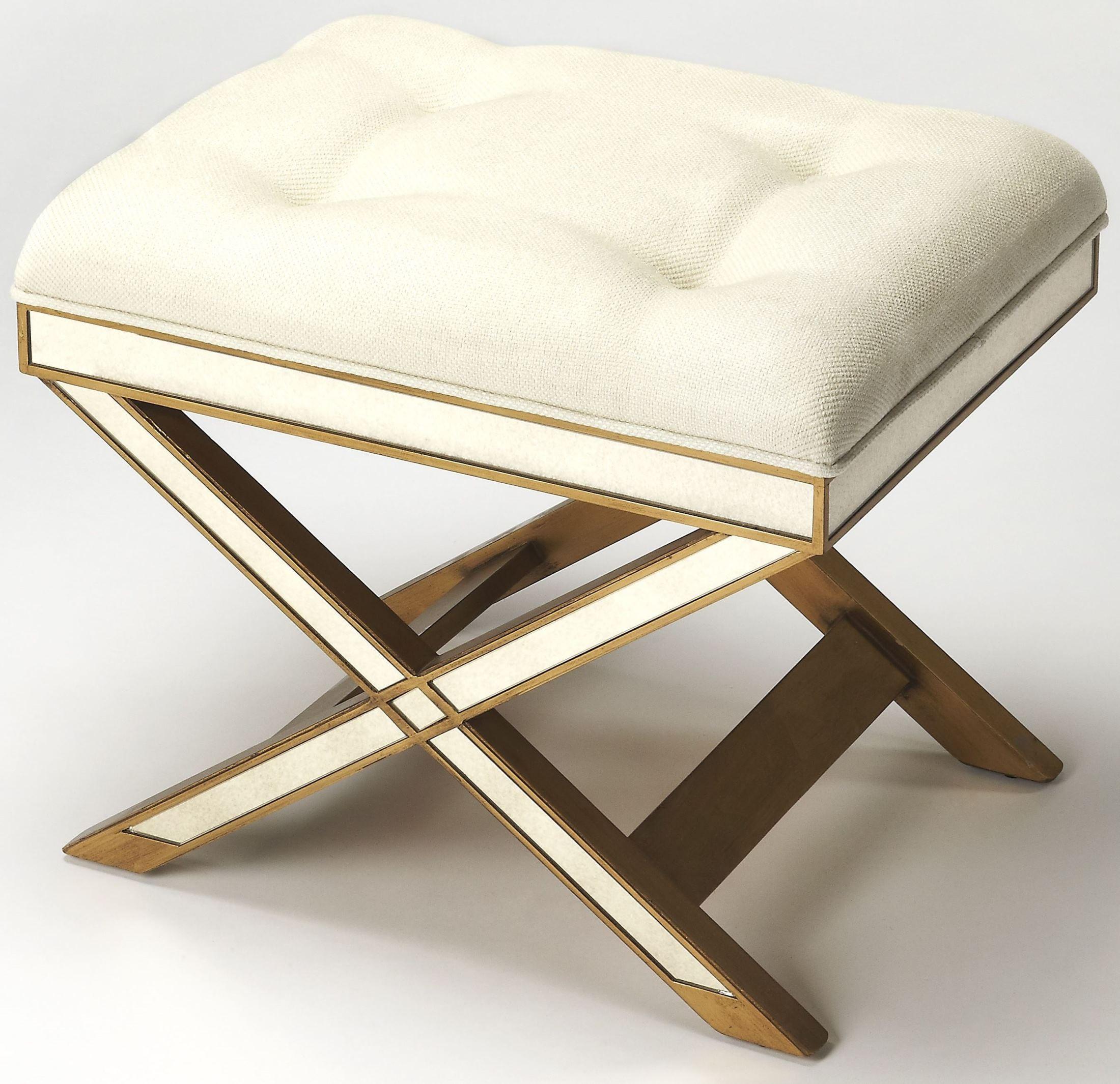 Marlo Mirror Amp Gold Vanity Stool 1253353 Butler