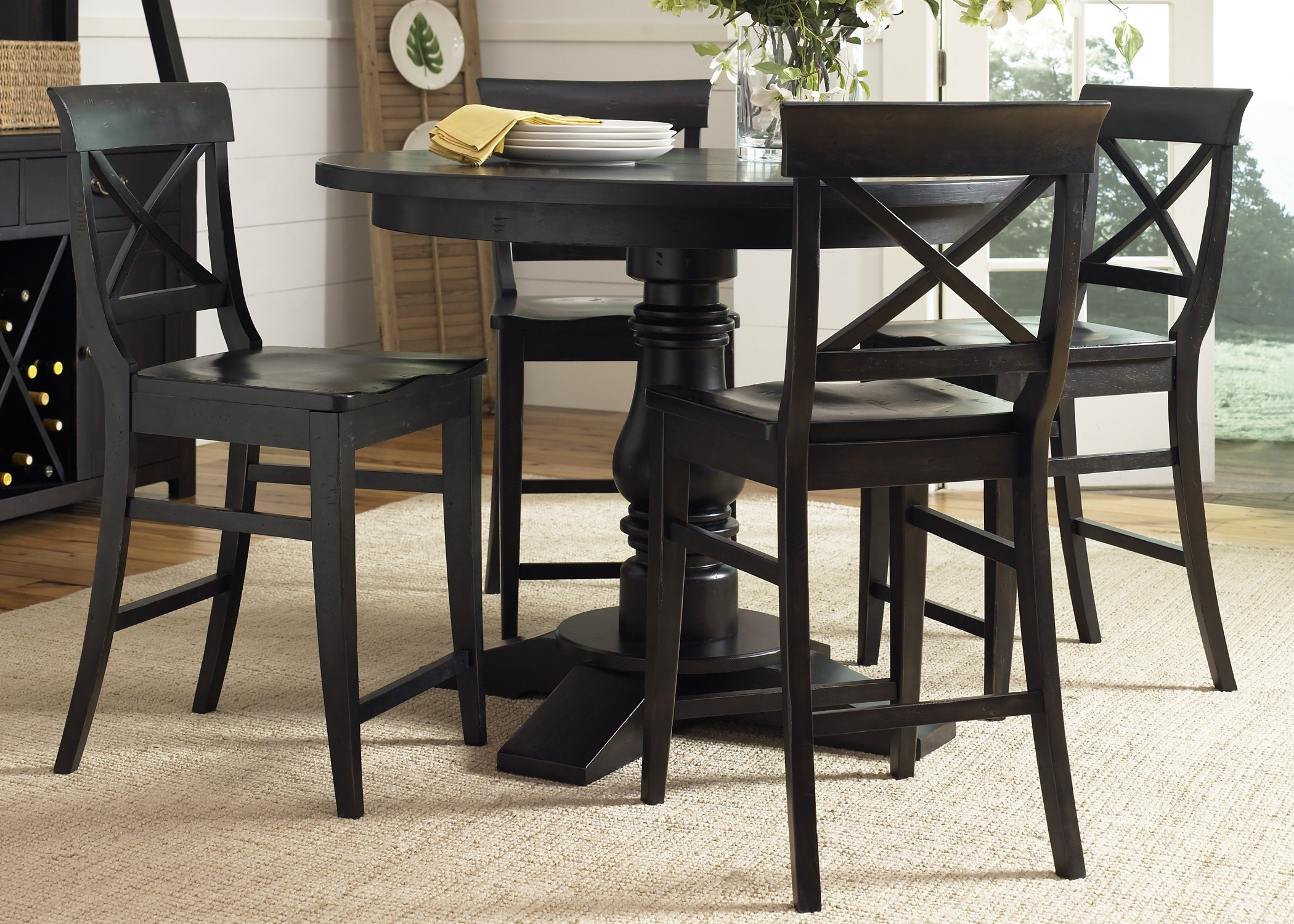 Countertop Height Round Table : Sundance Lake Round Pedestal Counter Height Table - Liberty Furniture
