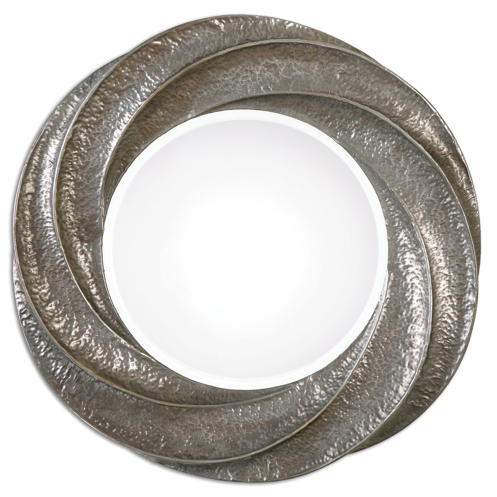 spiraali round silver wall mirror from uttermost 12922 coleman furniture. Black Bedroom Furniture Sets. Home Design Ideas
