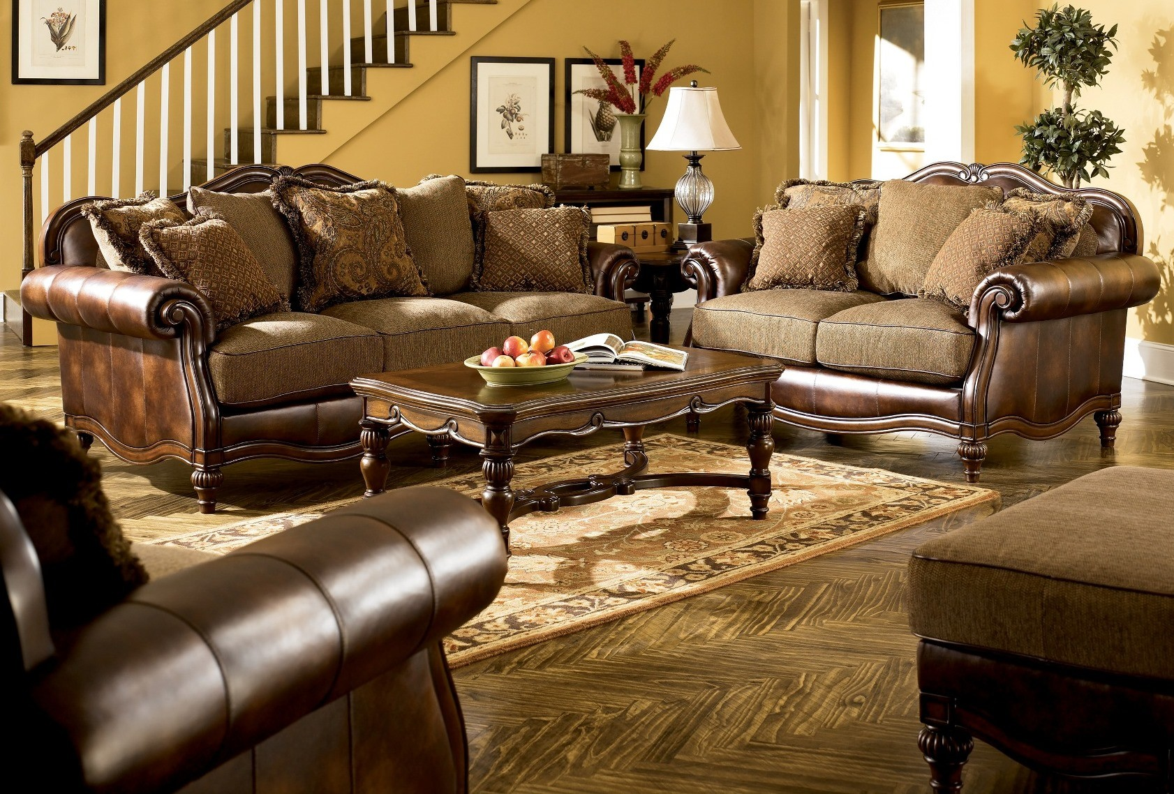 Claremore Antique Living Room Set From Ashley 84303 Coleman Furniture