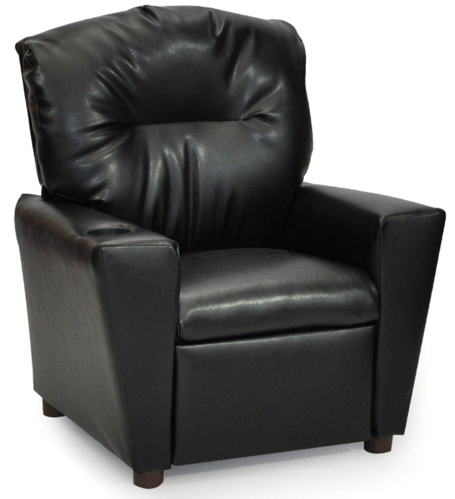 Juvenile Black Kids Recliner With Cup Holder From Kidz