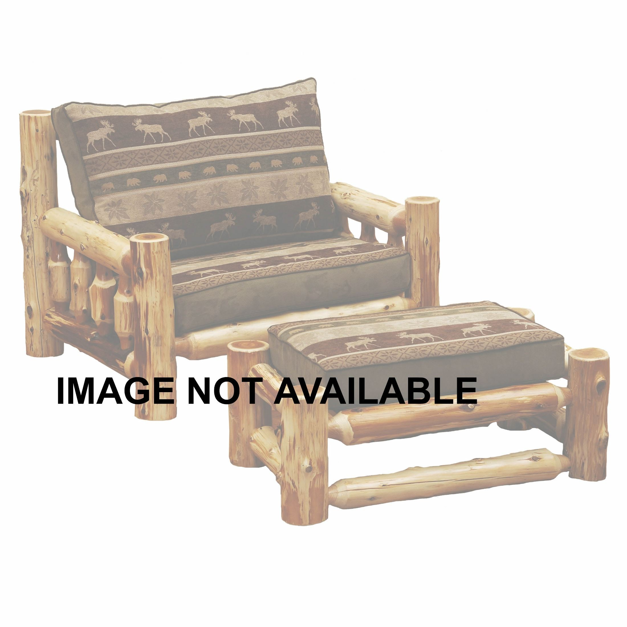 Hickory Log Frame Ottoman Chair and a Half from Fireside