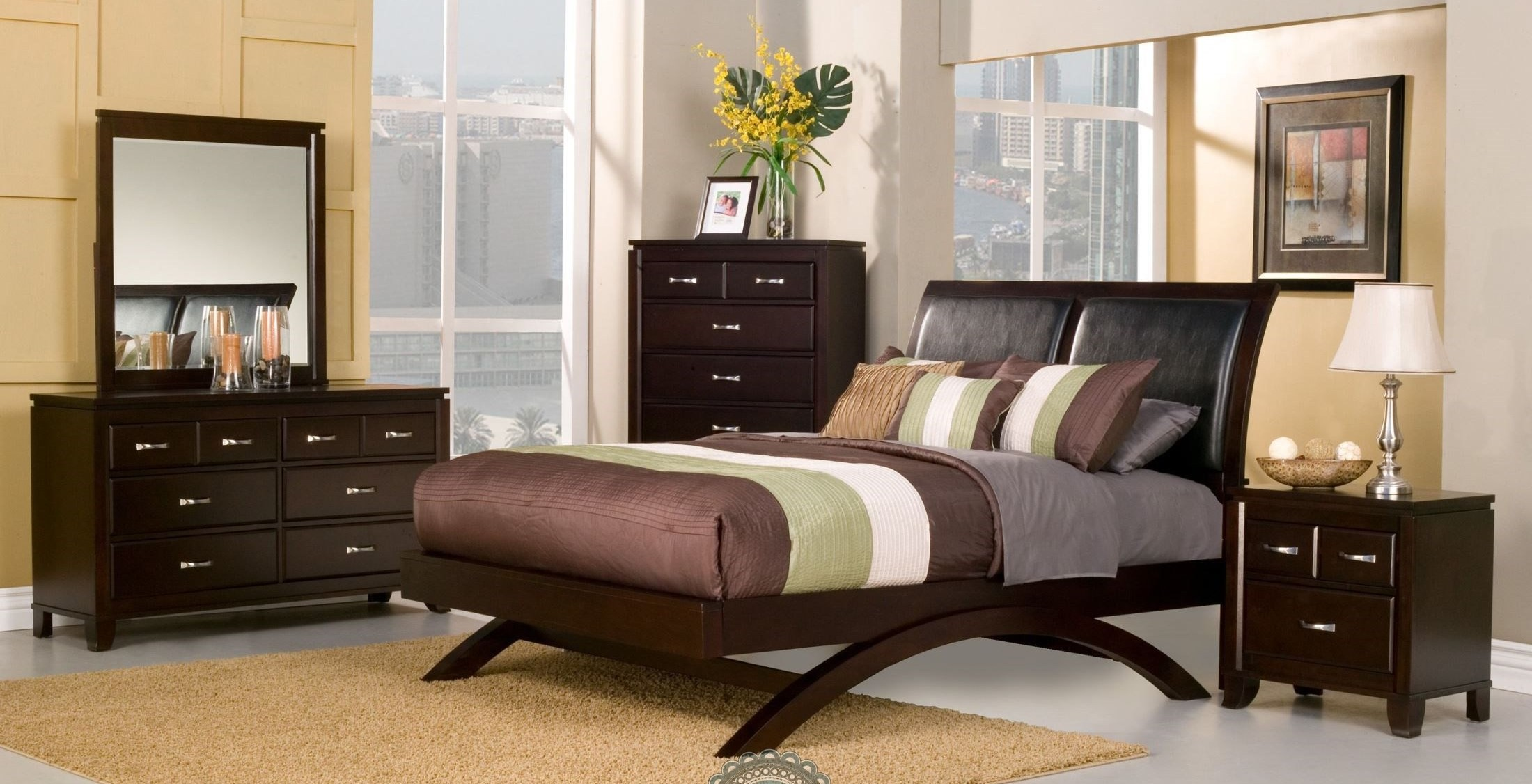 Astrid Espresso Sleigh Bedroom Set from Homelegance 1313 1