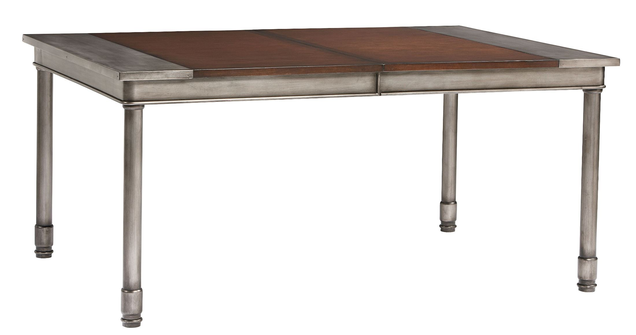 hudson warm cherry rectangular extendable dining table from standard
