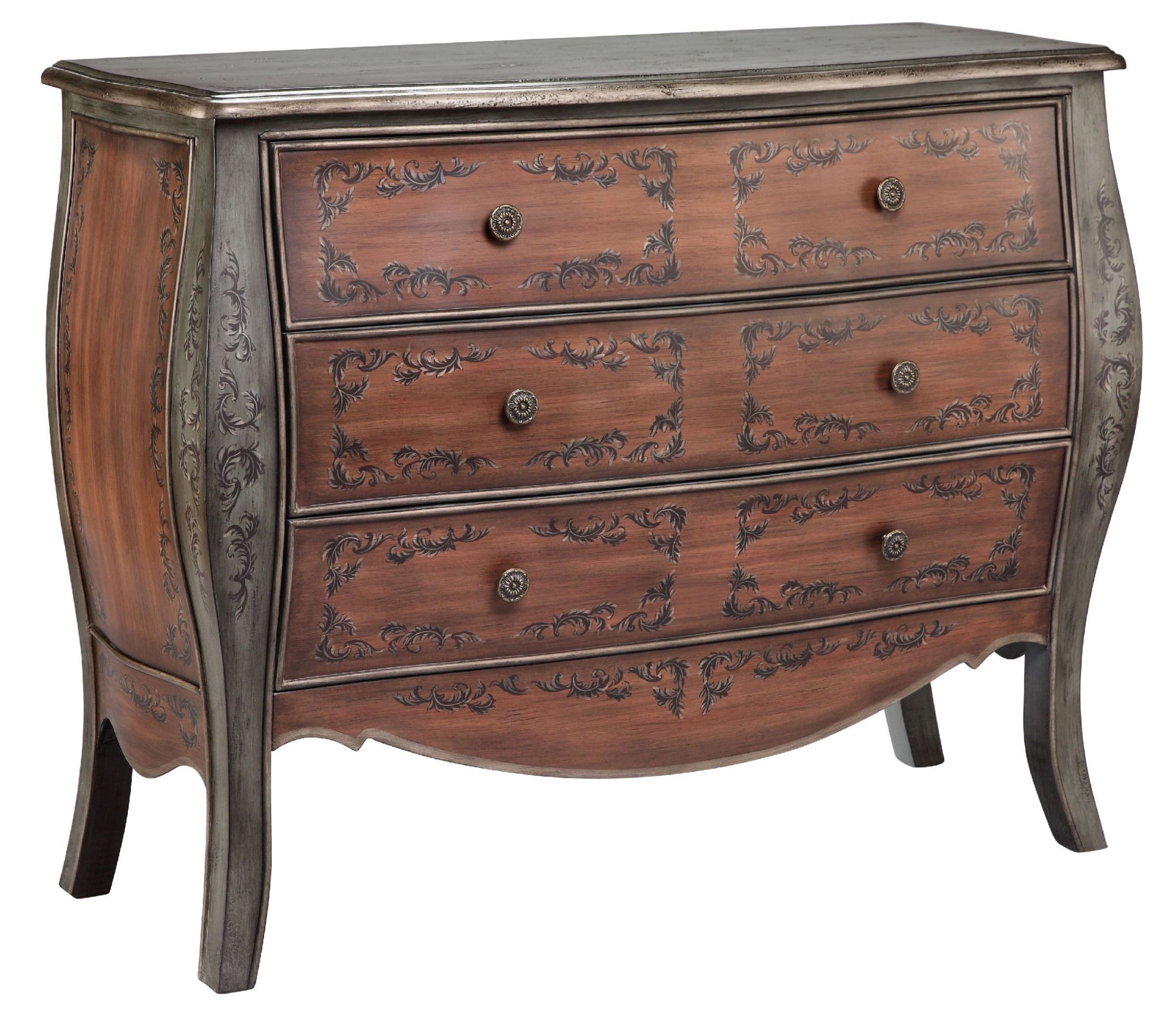 Donte hand painted accent chest 13225 stein world for Hand painted chests