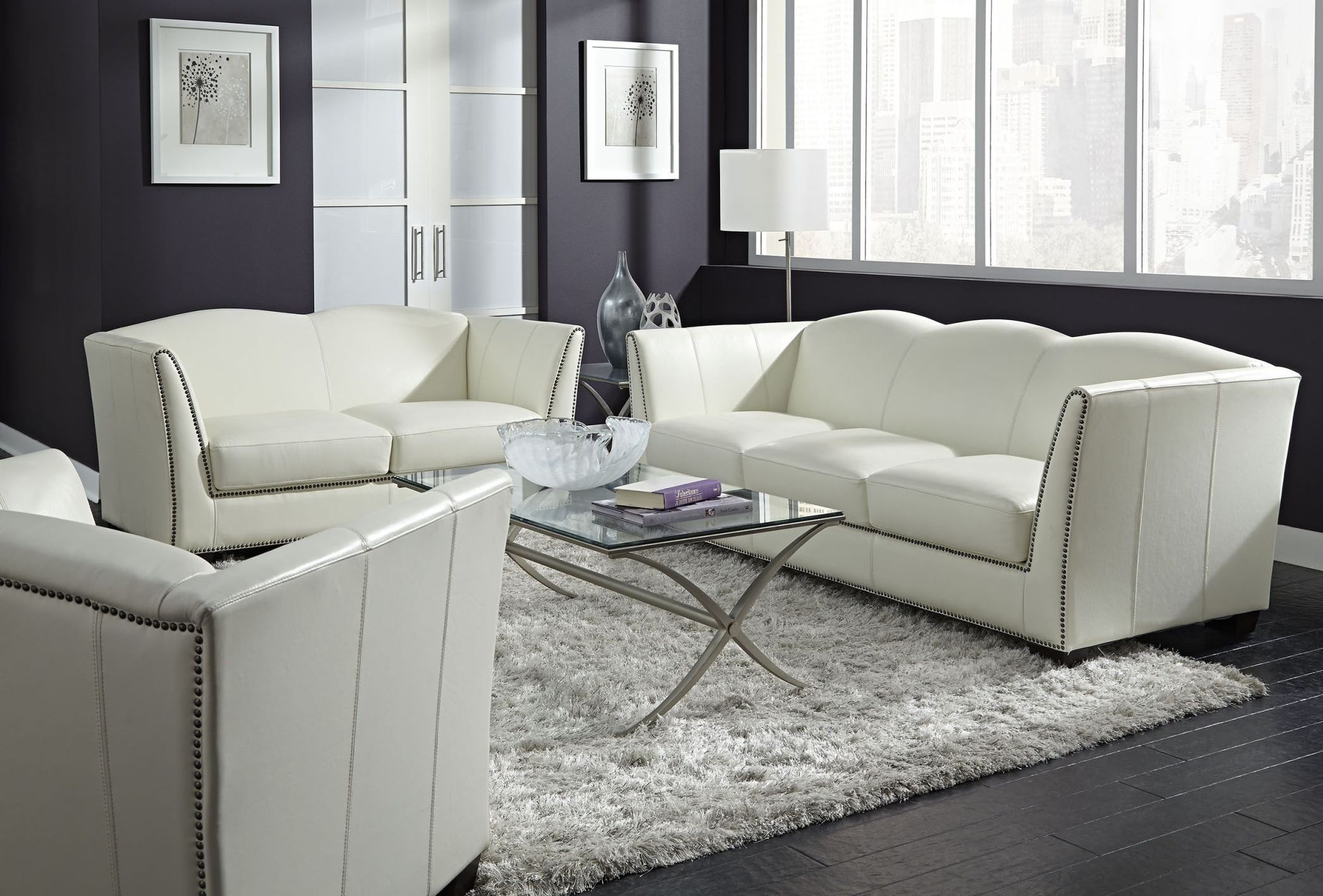manlyn white leather living room set from lazzaro wh 1327