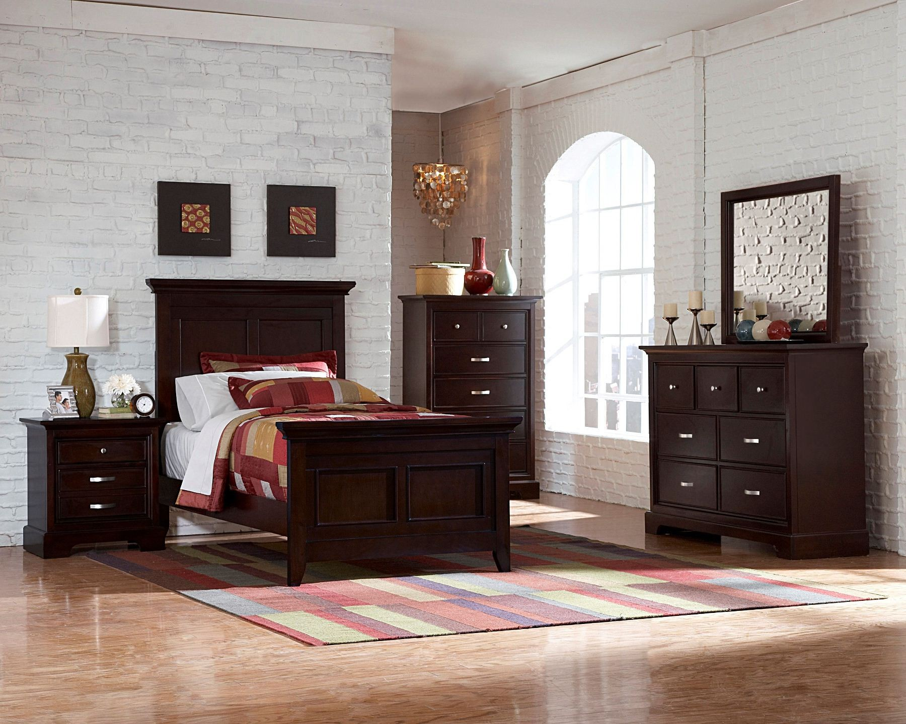 Glamour youth espresso panel bedroom set from homelegance - Cabeceras para cama ...