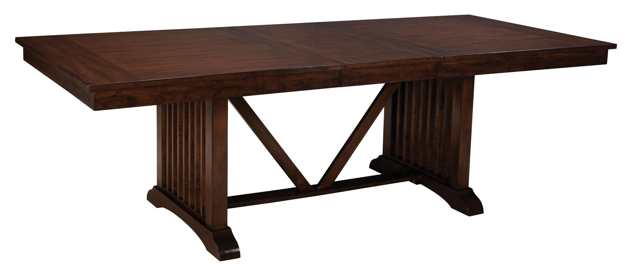 Artisan Loft Warm Medium Oak Rectangular Extendable Dining  : 1362013626trestletblsilo from colemanfurniture.com size 2200 x 939 jpeg 157kB