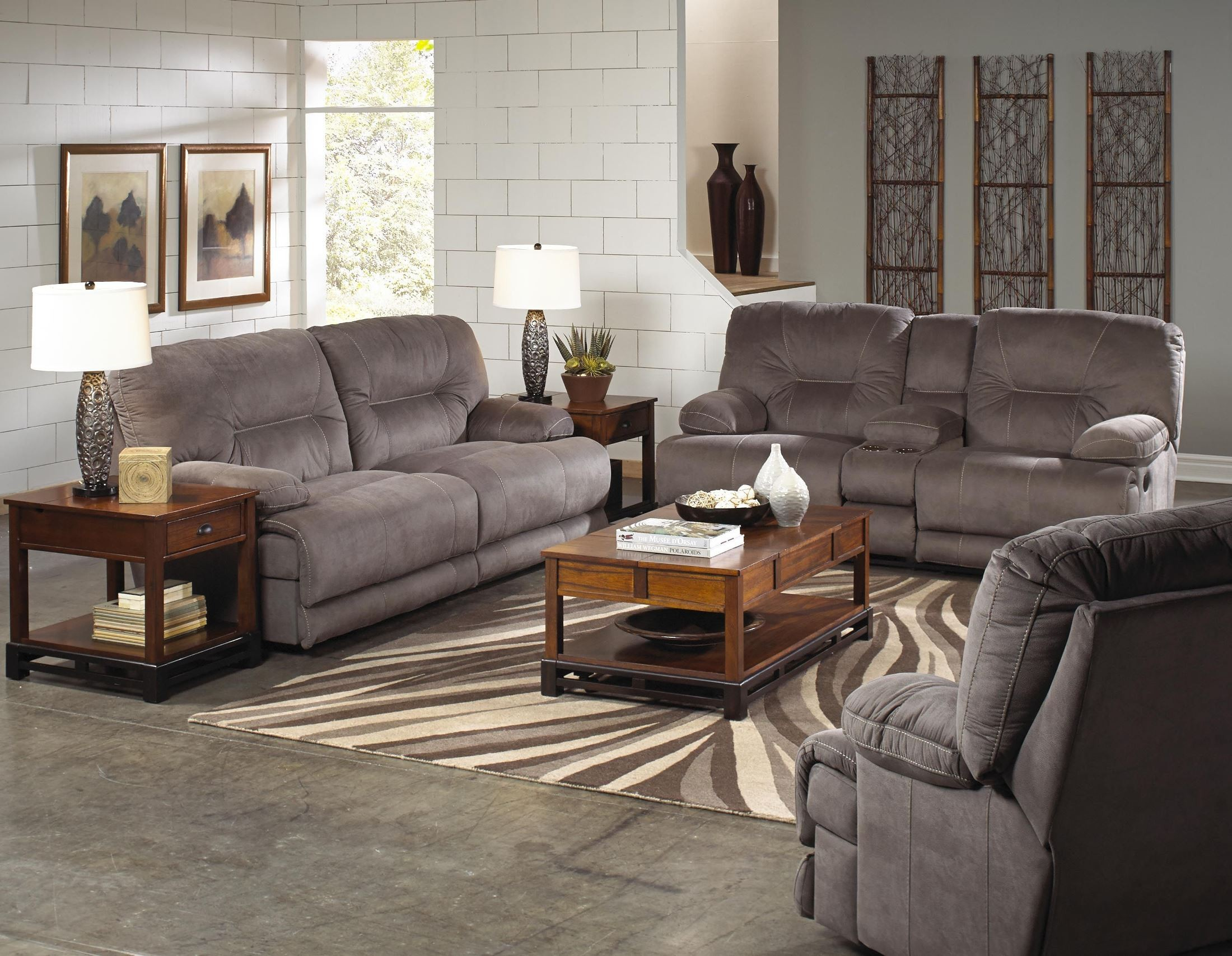 Noble Slate Power Reclining Living Room Set From Catnapper 61361200000000000