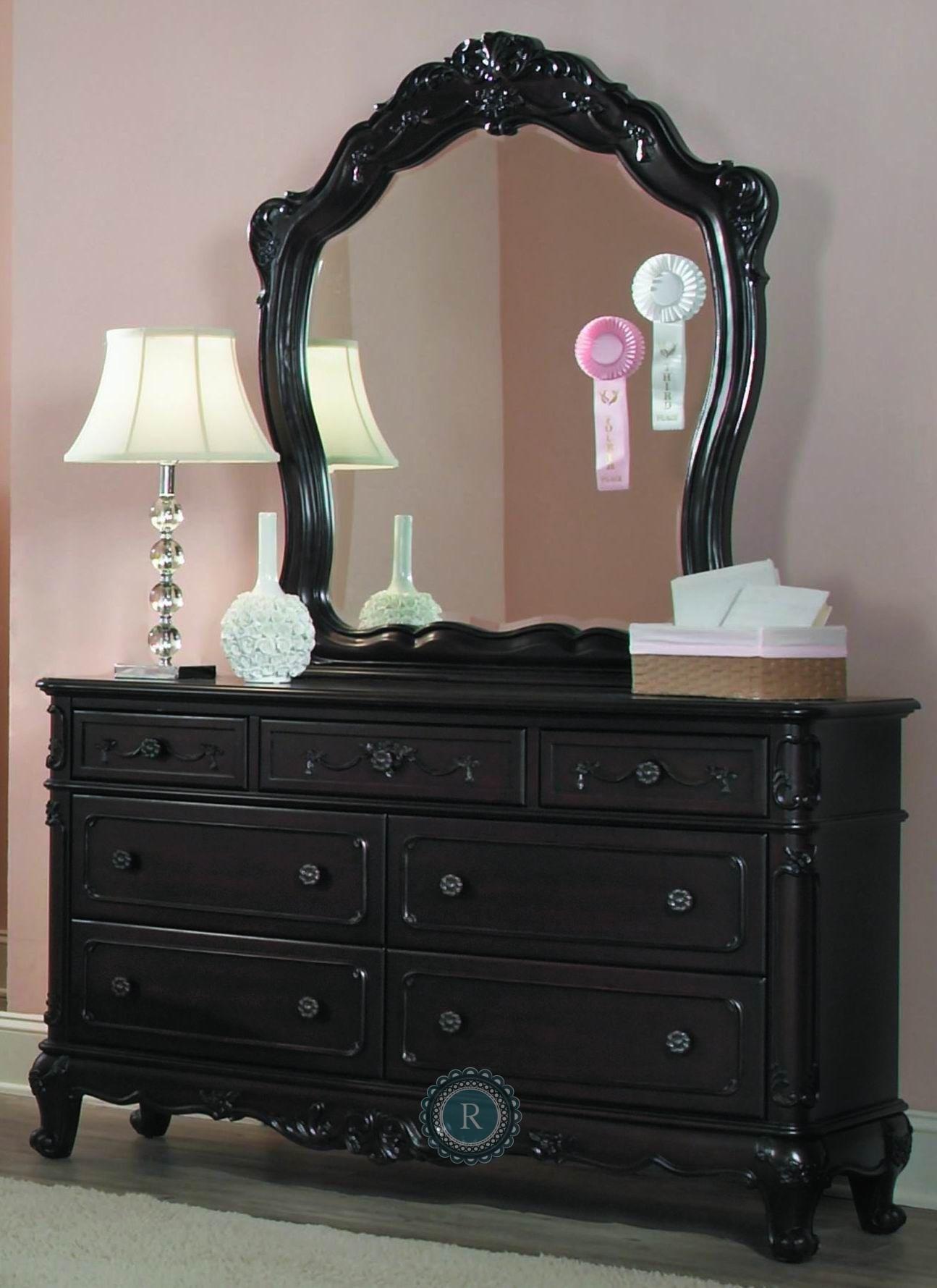 Cinderella Dark Cherry Poster Bedroom Set from Homelegance