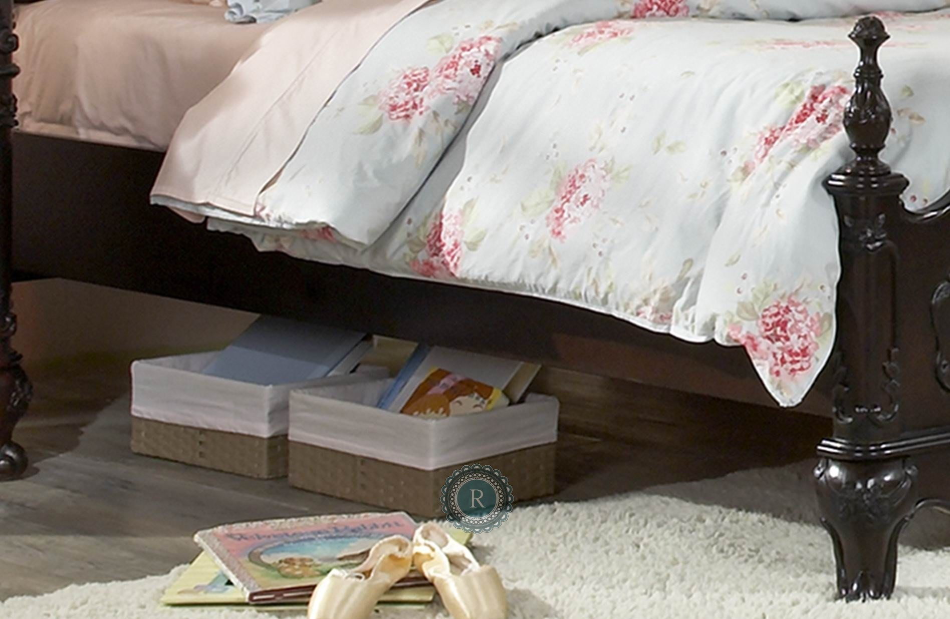 Cinderella Dark Cherry Youth Poster Bedroom Set from