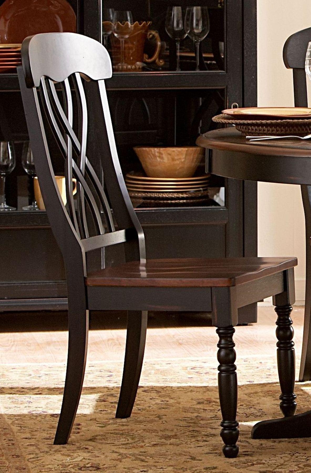 Ohana Black Round Dining Room Set From Homelegance 1393BK