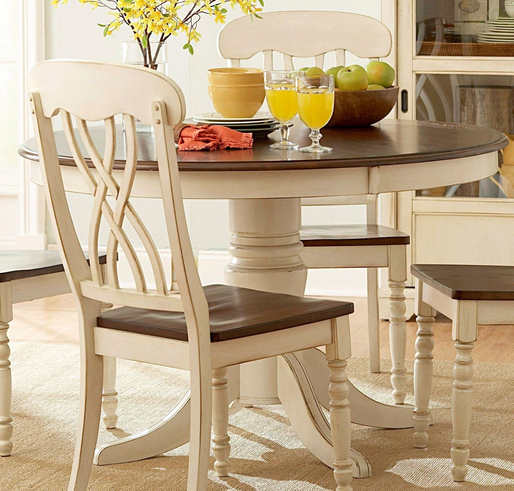ohana round dining table from homelegance 1393w 48 coleman r