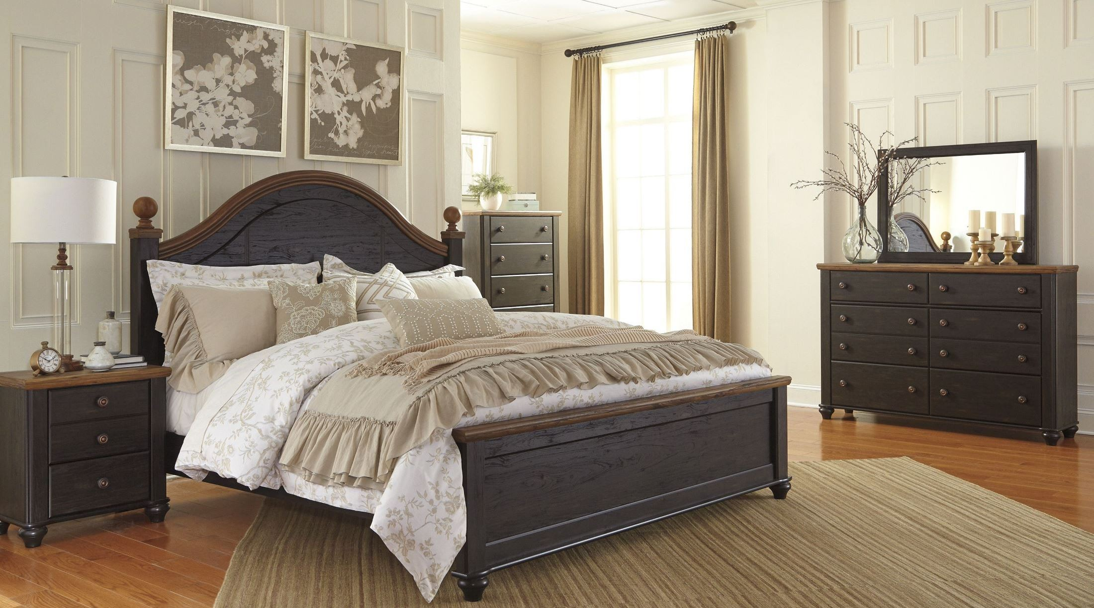 Maxington Black And Reddish Brown Panel Bedroom Set From Ashley B220 67 54 95 Coleman Furniture
