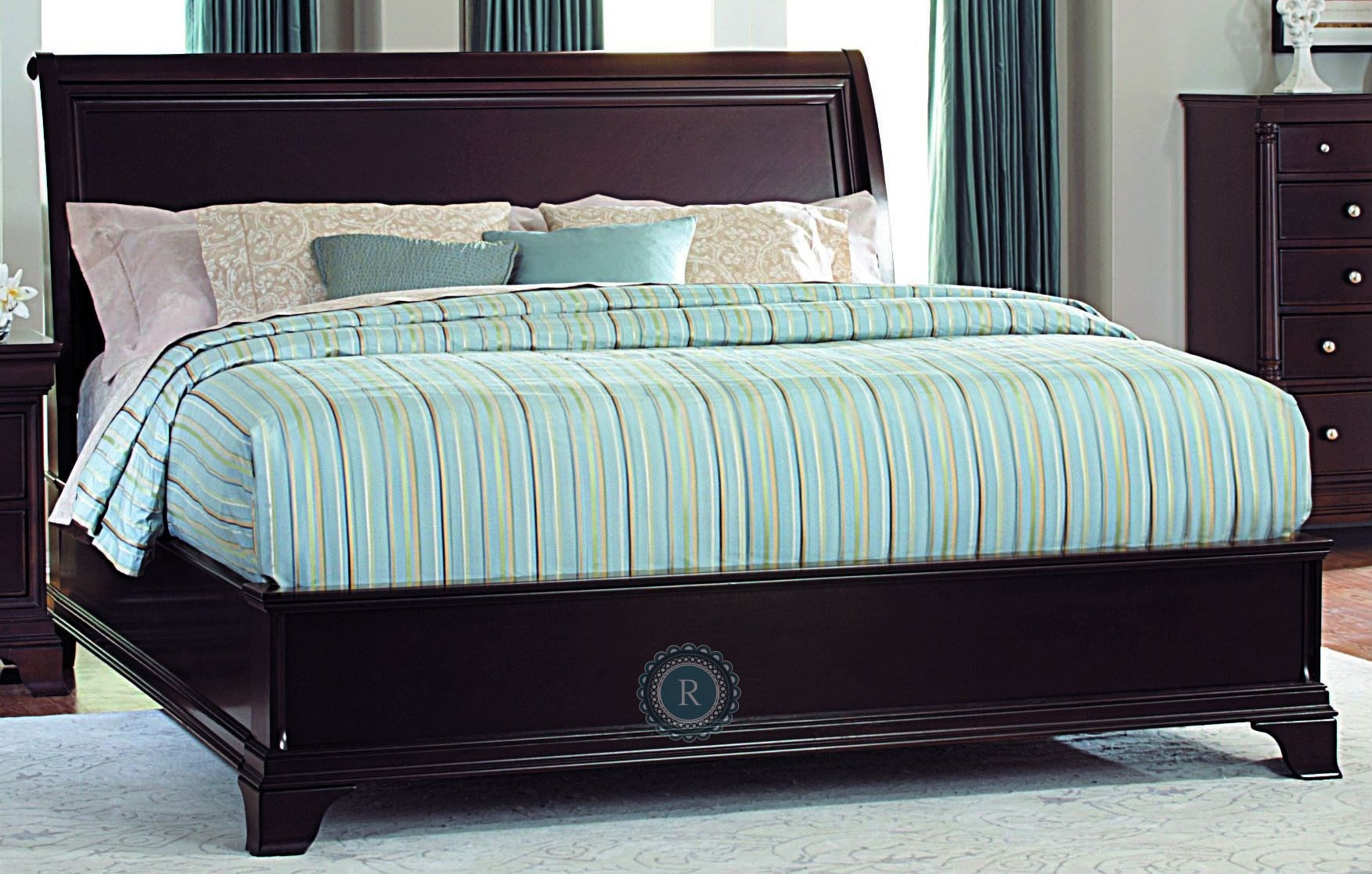 inglewood cal king sleigh bed from homelegance 1402lpk 1ck coleman furniture. Black Bedroom Furniture Sets. Home Design Ideas