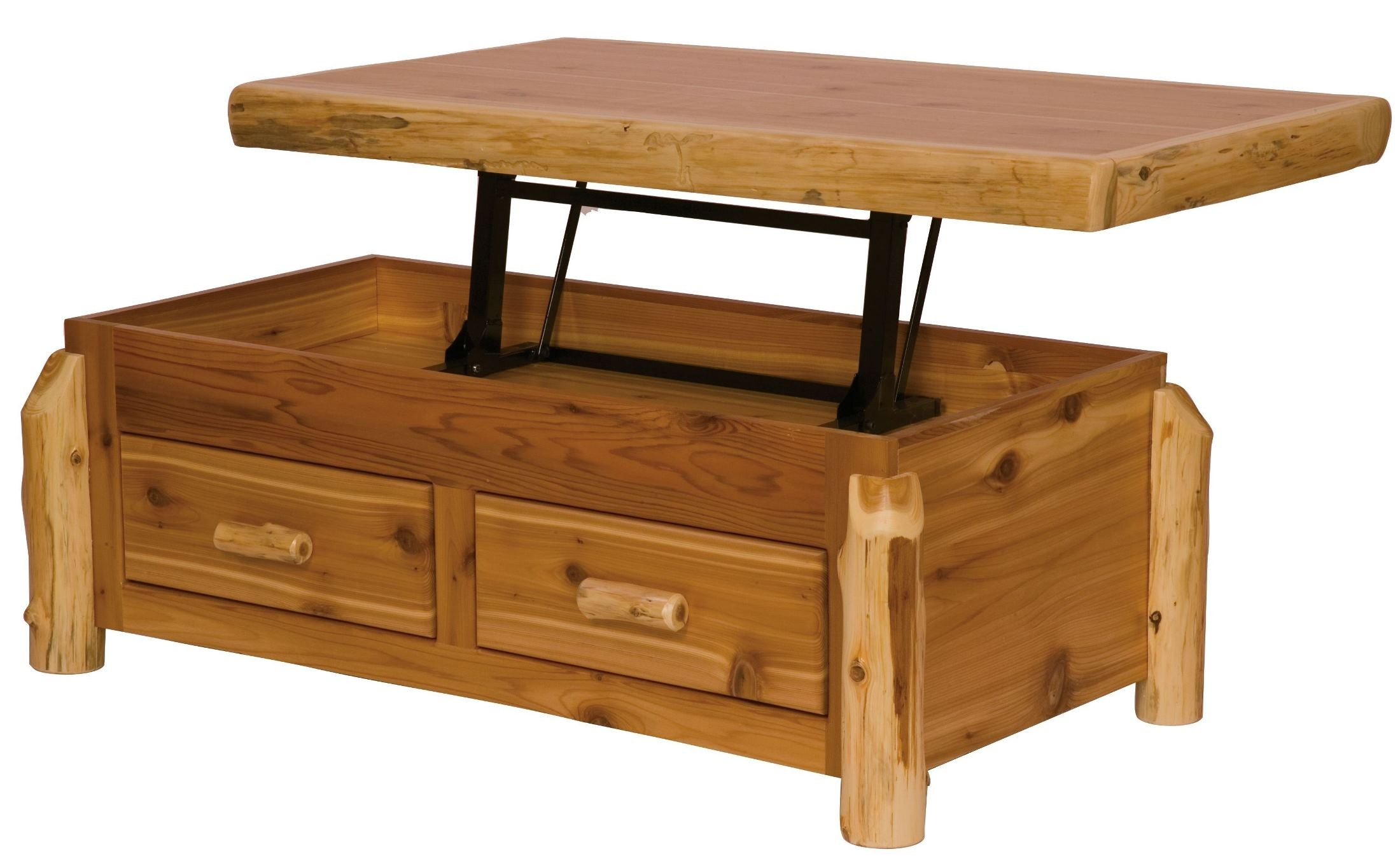 Cedar Enclosed Standard Coffee Table From Fireside Lodge 14110 Coleman Furniture