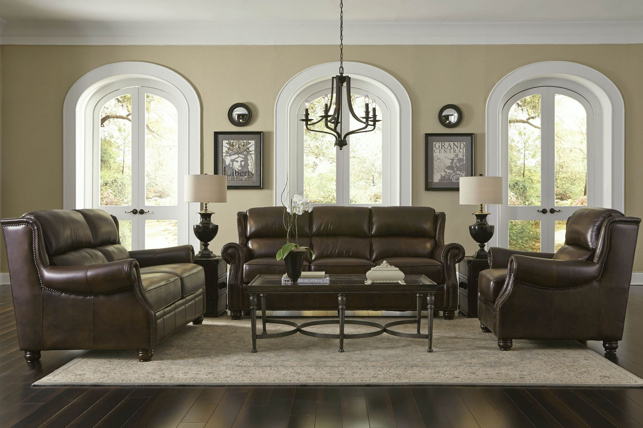 Appalachian Rustic Savauge Leather Living Room Set From Lazzaro WH