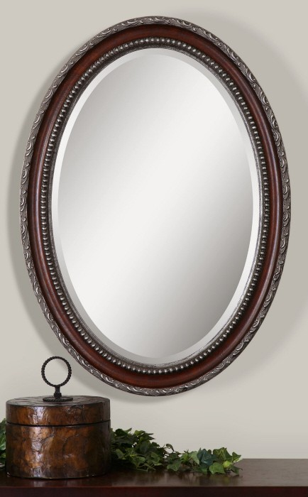 Montrose Oval Silver Mirror from Uttermost (14196) : Coleman Furniture