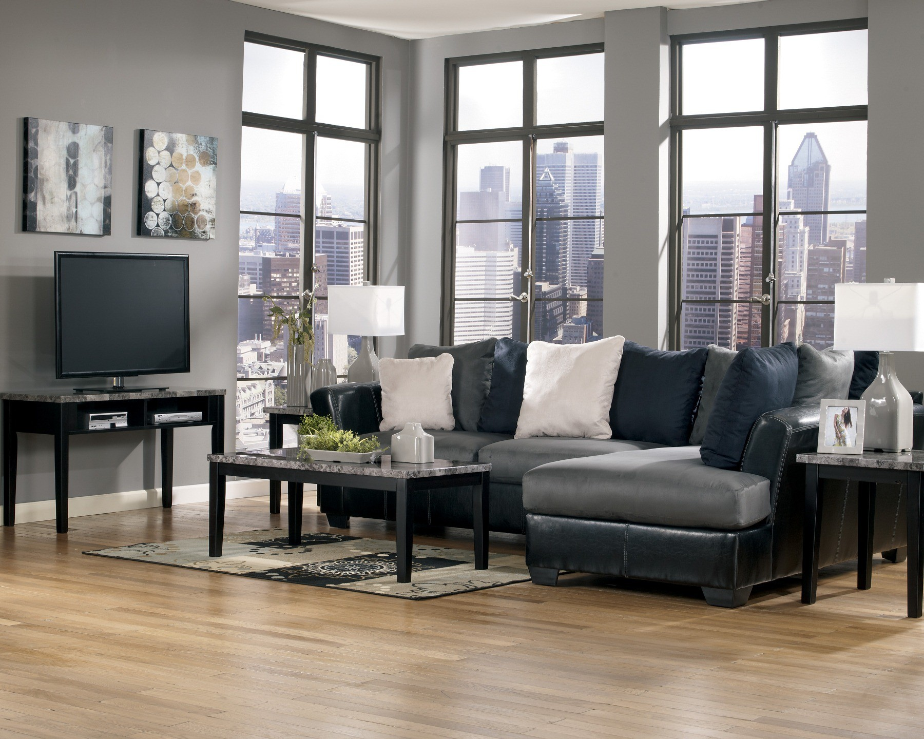 Masoli Cobblestone Right Arm Facing Sectional From Ashley 14200 66 17 Coleman Furniture