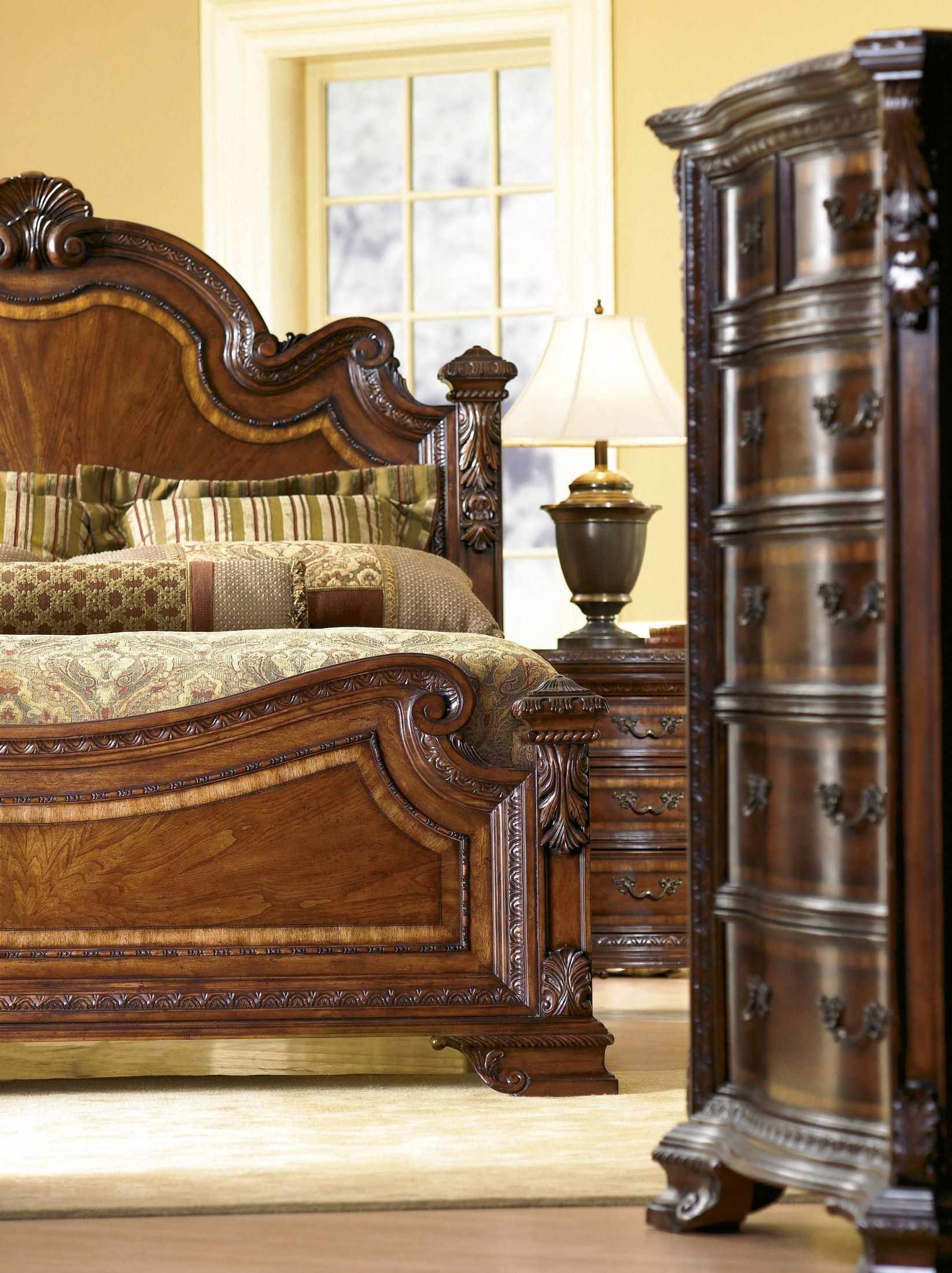 old world estate bedroom set from art 143155 coleman furniture