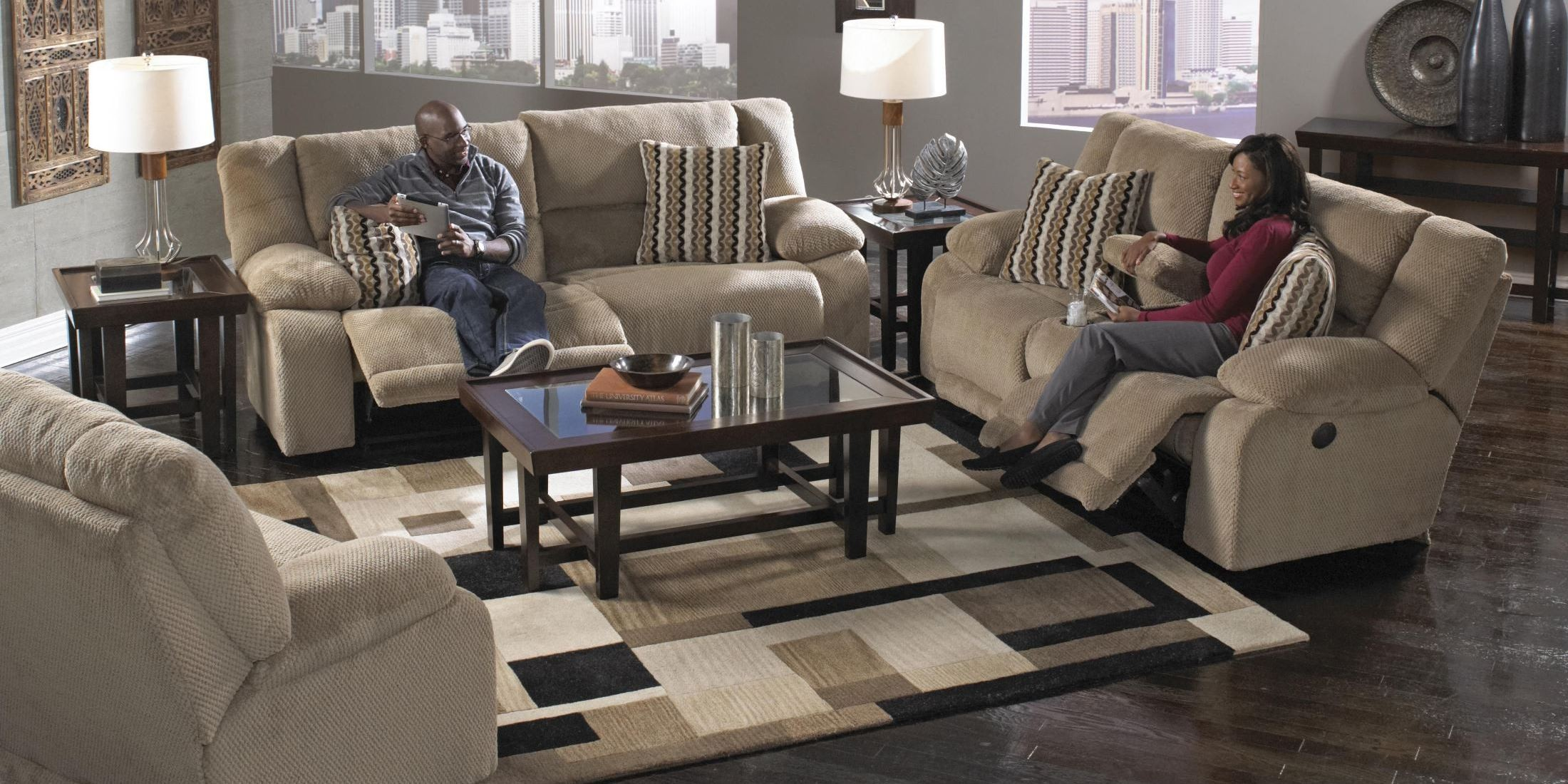 Hammond Coffee Reclining Living Room Set From Catnapper 1441280000000000