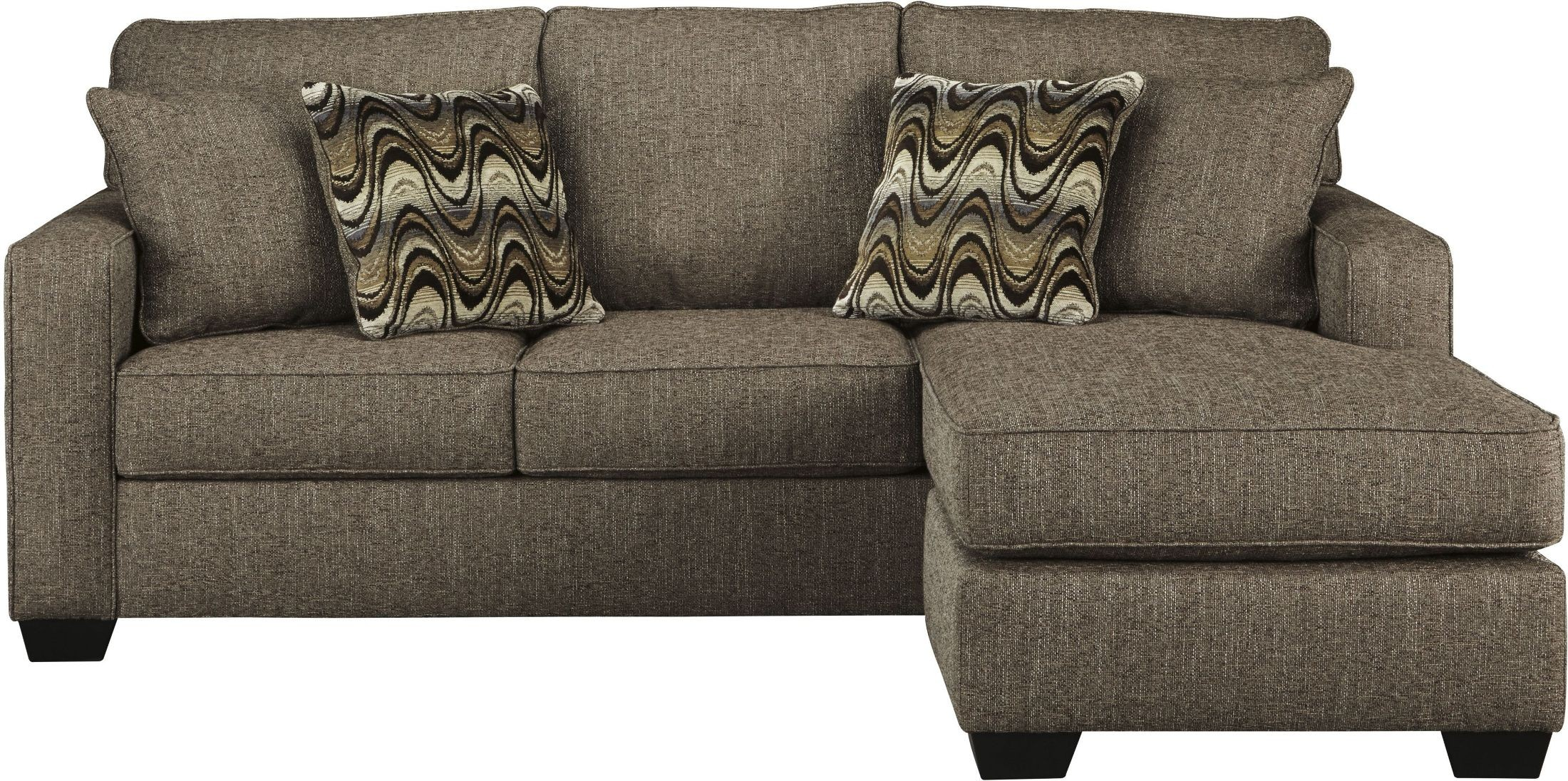 Tanacra tweed sofa chaise 1460218 ashley for Ashley brown sofa chaise
