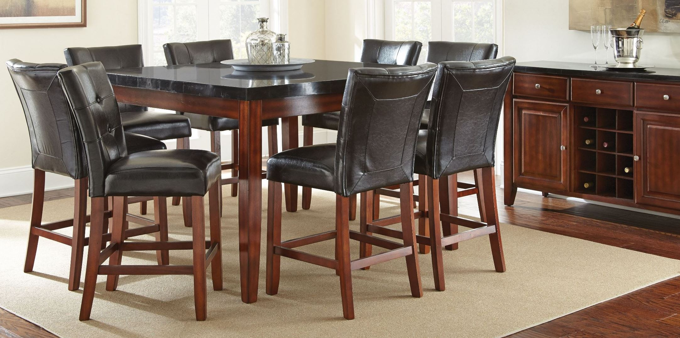 Granite Bello Square Counter Height Dining Room Set From Steve Silver MG5454