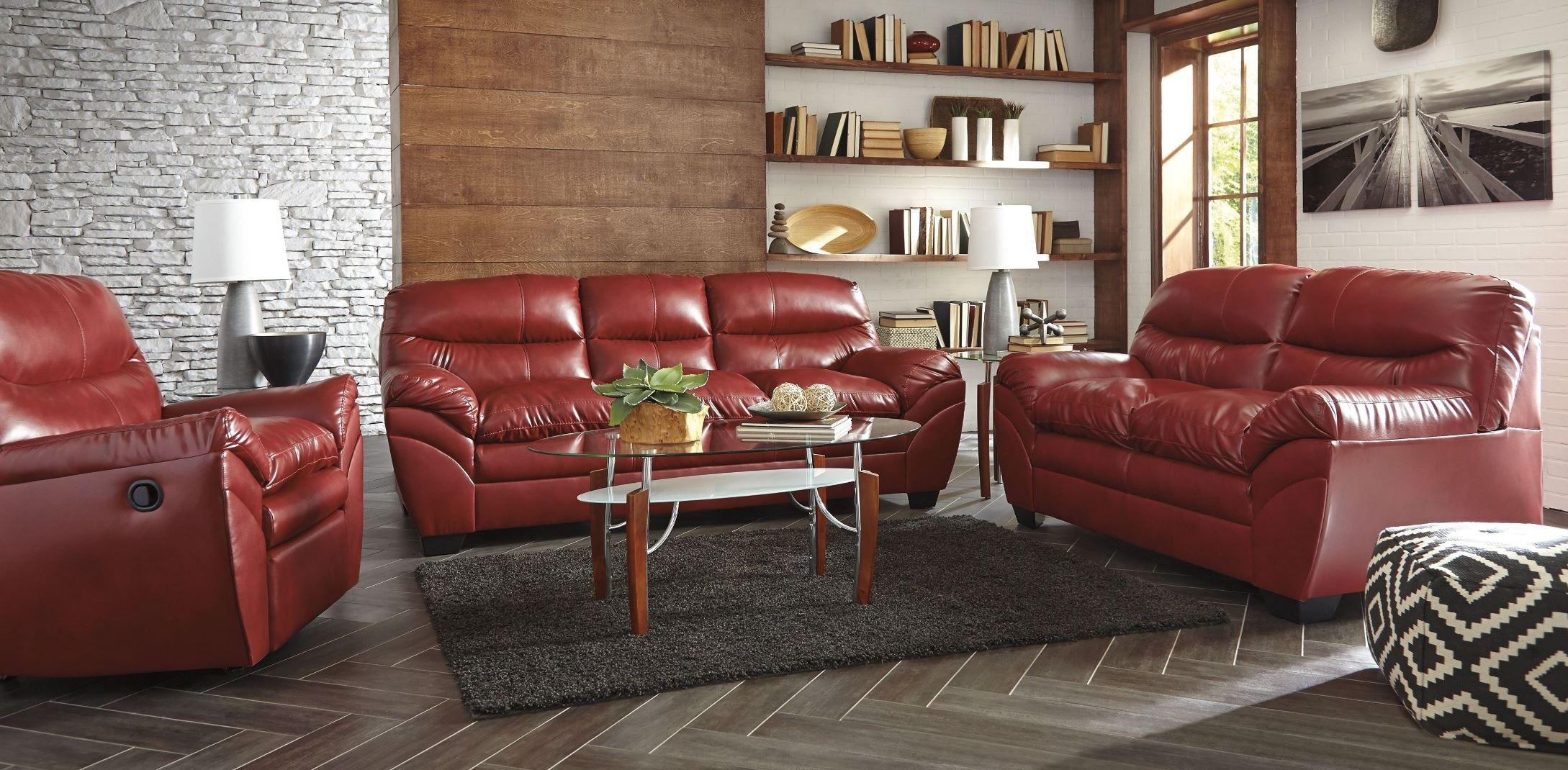 Tassler Durablend Crimson Living Room Set From Ashley 4650038 Coleman Fur