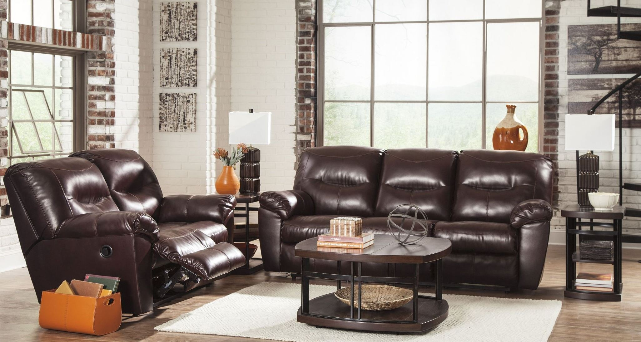 Kilzer Durablend Mahogany Reclining Living Room Set From