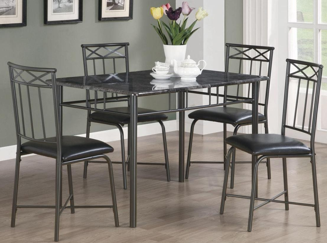 Dinettes Black 5 pc Dining Set 150115 from Coaster 150115  : 15011521 from colemanfurniture.com size 1107 x 822 jpeg 156kB