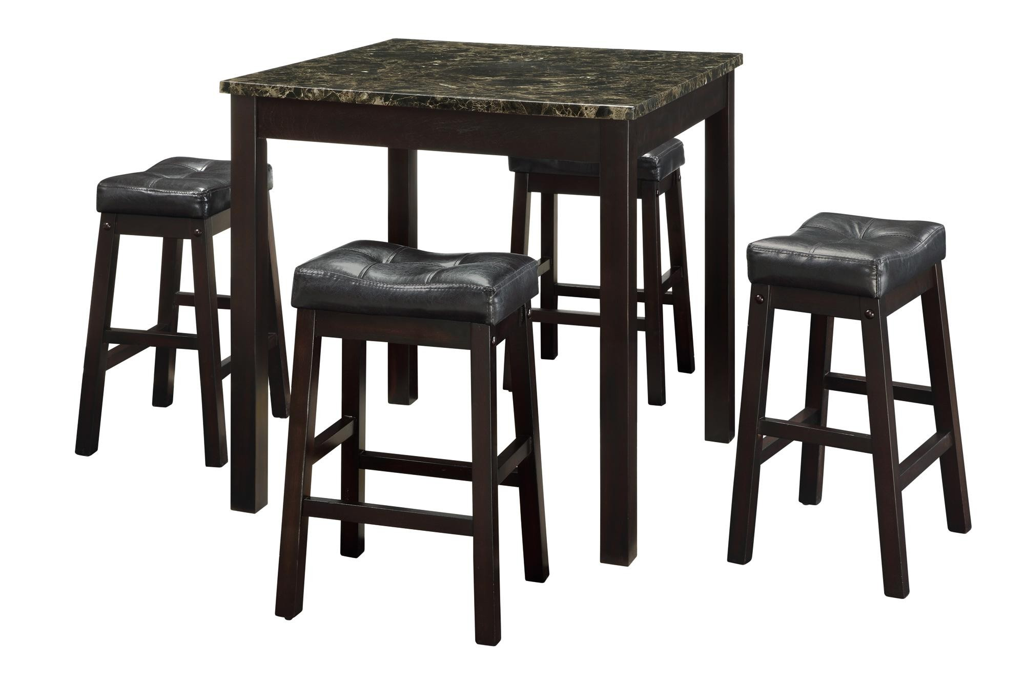 sophia 5 pcs counter height dining room set 150160