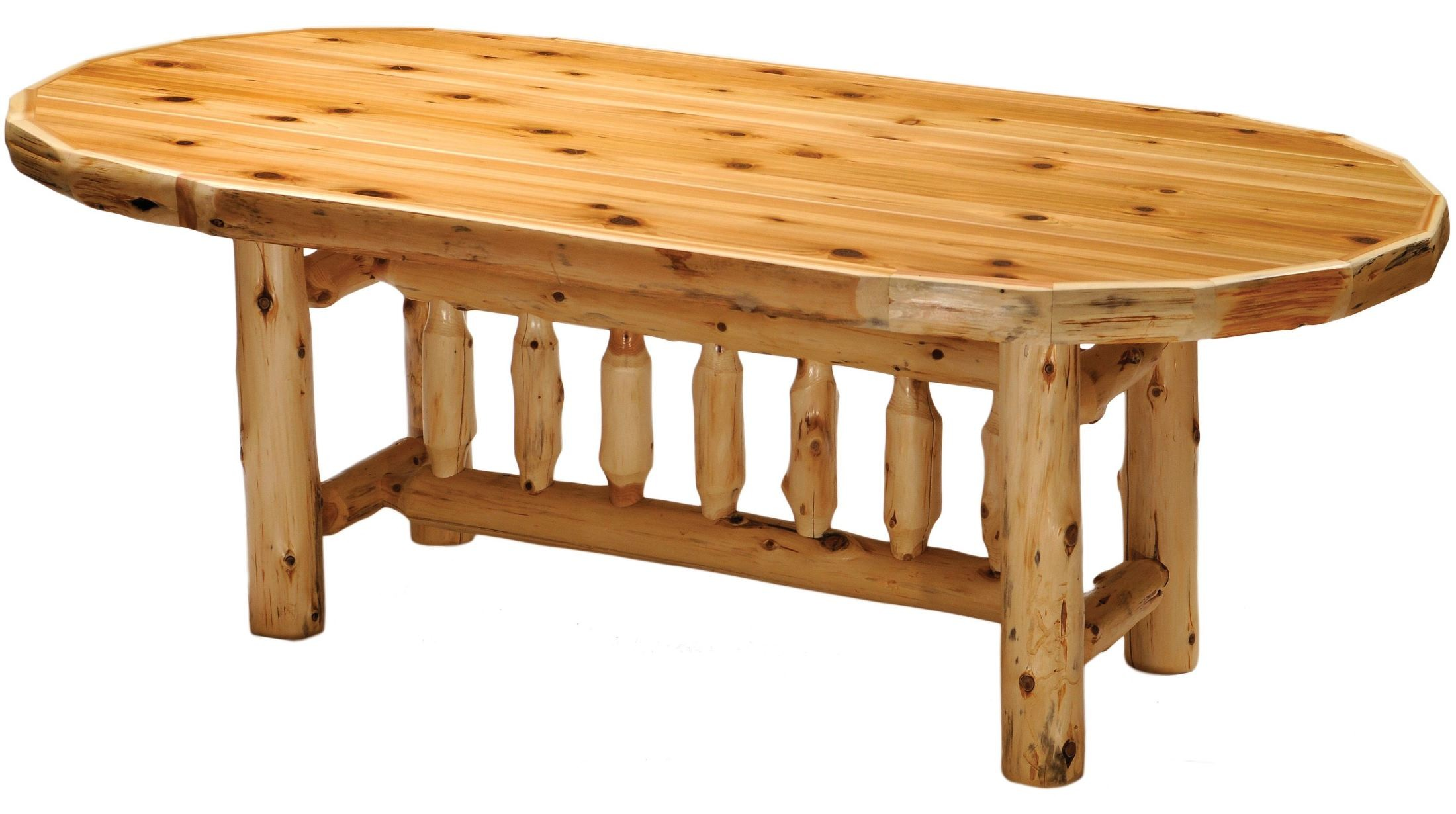 cedar 72 quot oval standard dining table from fireside lodge