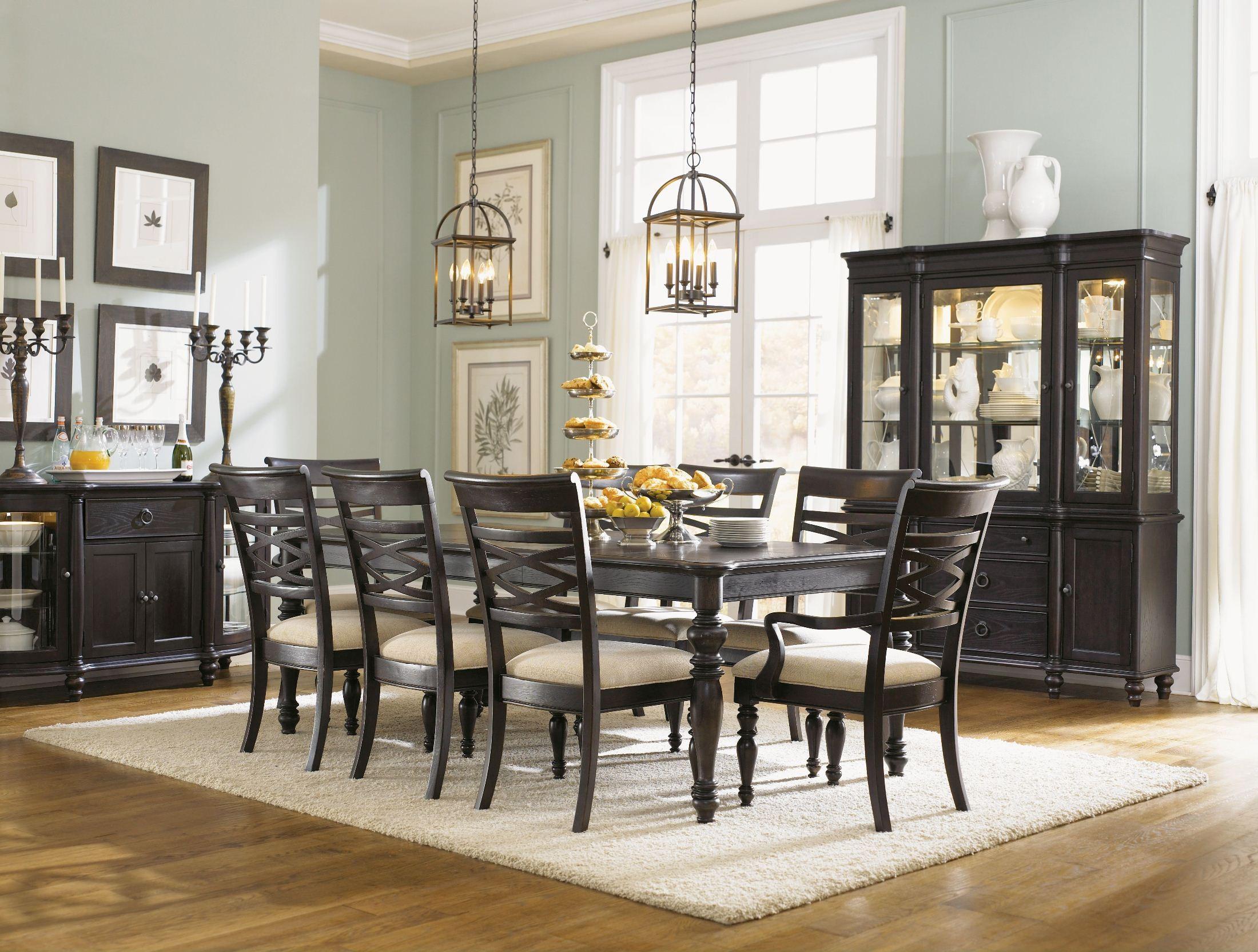 glen cove espresso leg dining room set 1521 222 legacy classic