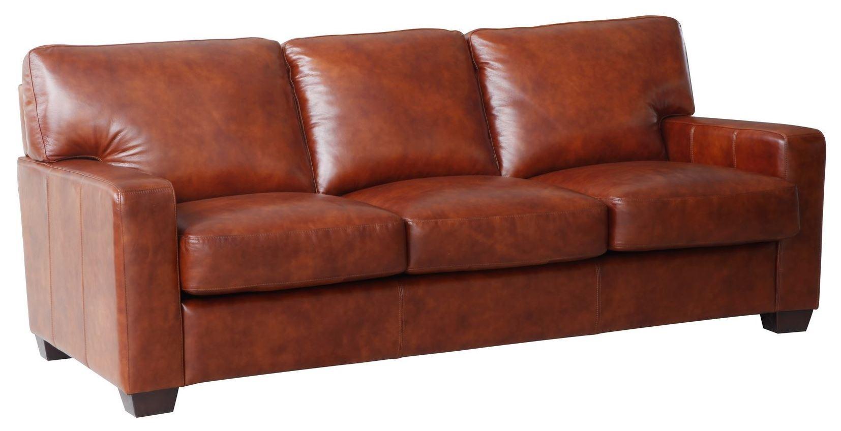 Aberdeen Auburn Top Grain Leather Sofa WH 1528 30 3730