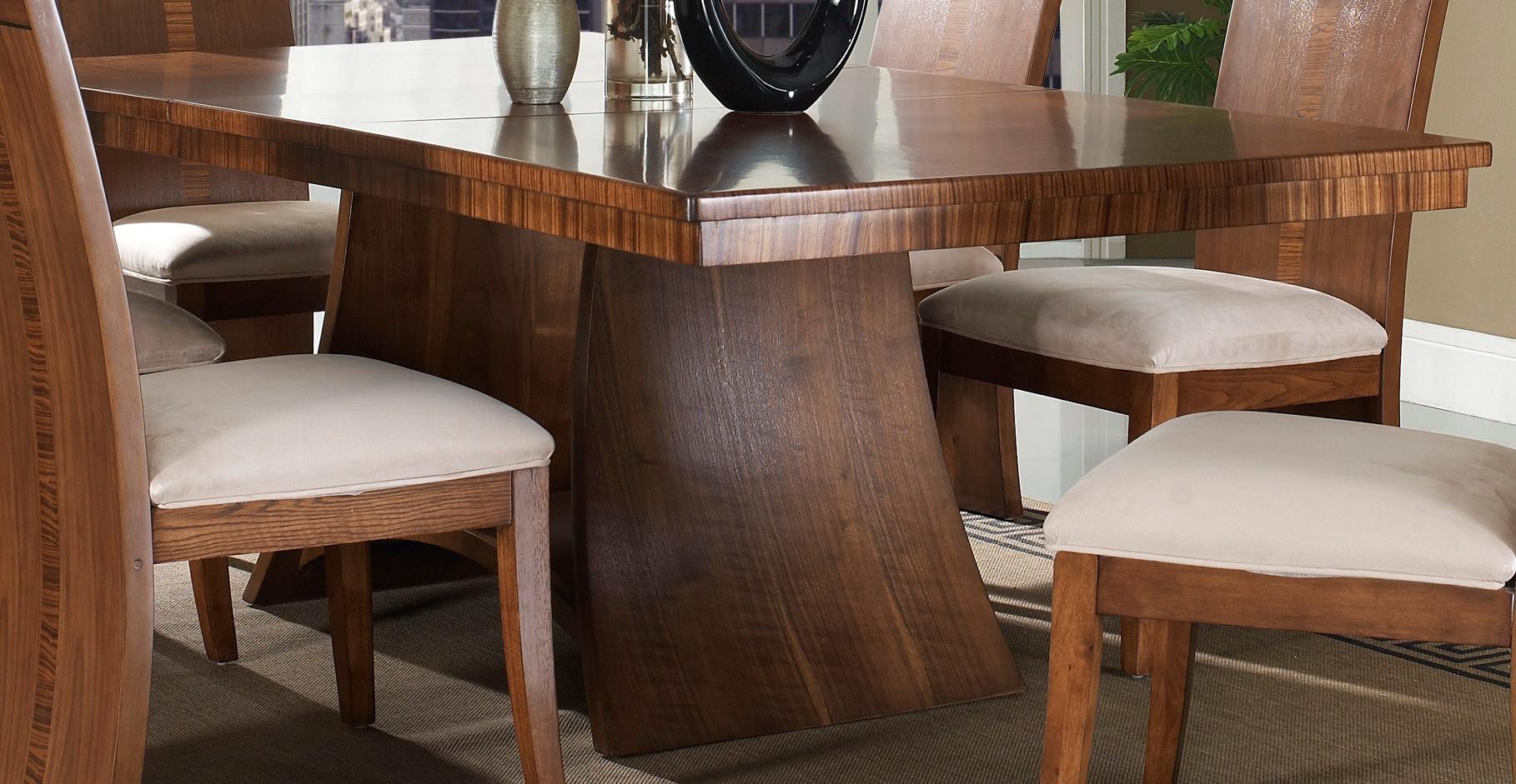 Milan rectangular pedestal dining table from somerton dwelling 153 62 b t coleman furniture - Pedestal dining table rectangular ...