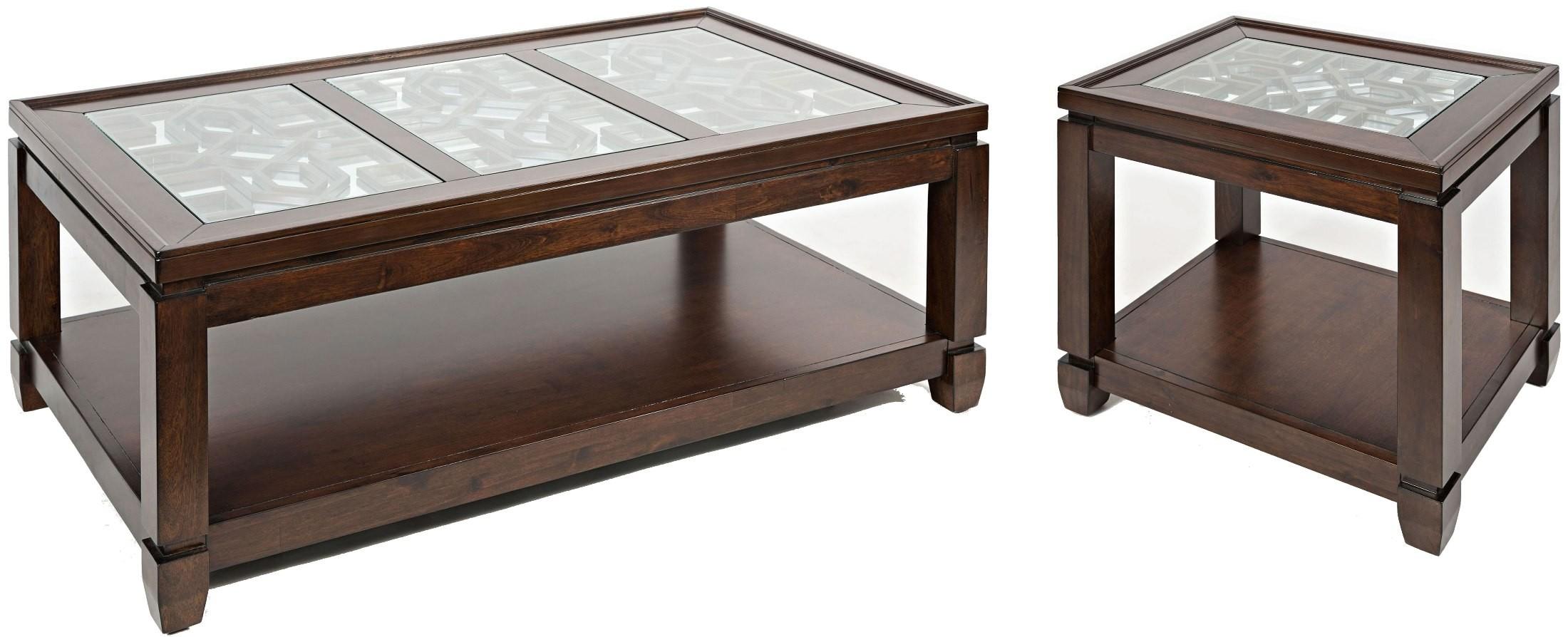 Casa bella cherry end table 1566 3 jofran for Casa bella collection