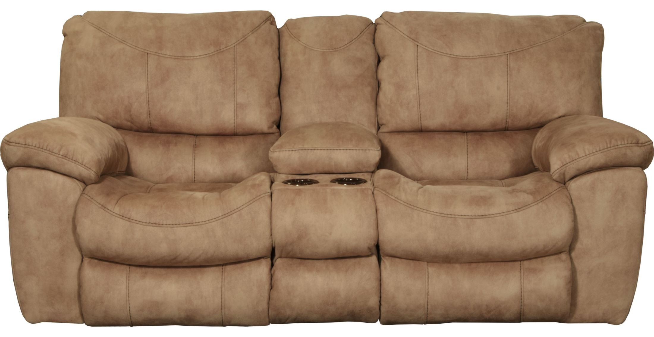 Terrance Caramel Power Reclining Console Loveseat 61589115616 Catnapper