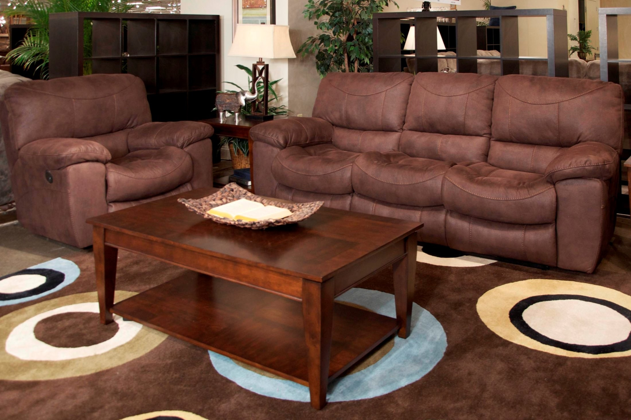 Terrance Chocolate Power Reclining Living Room Set 61581115659 Catnapper