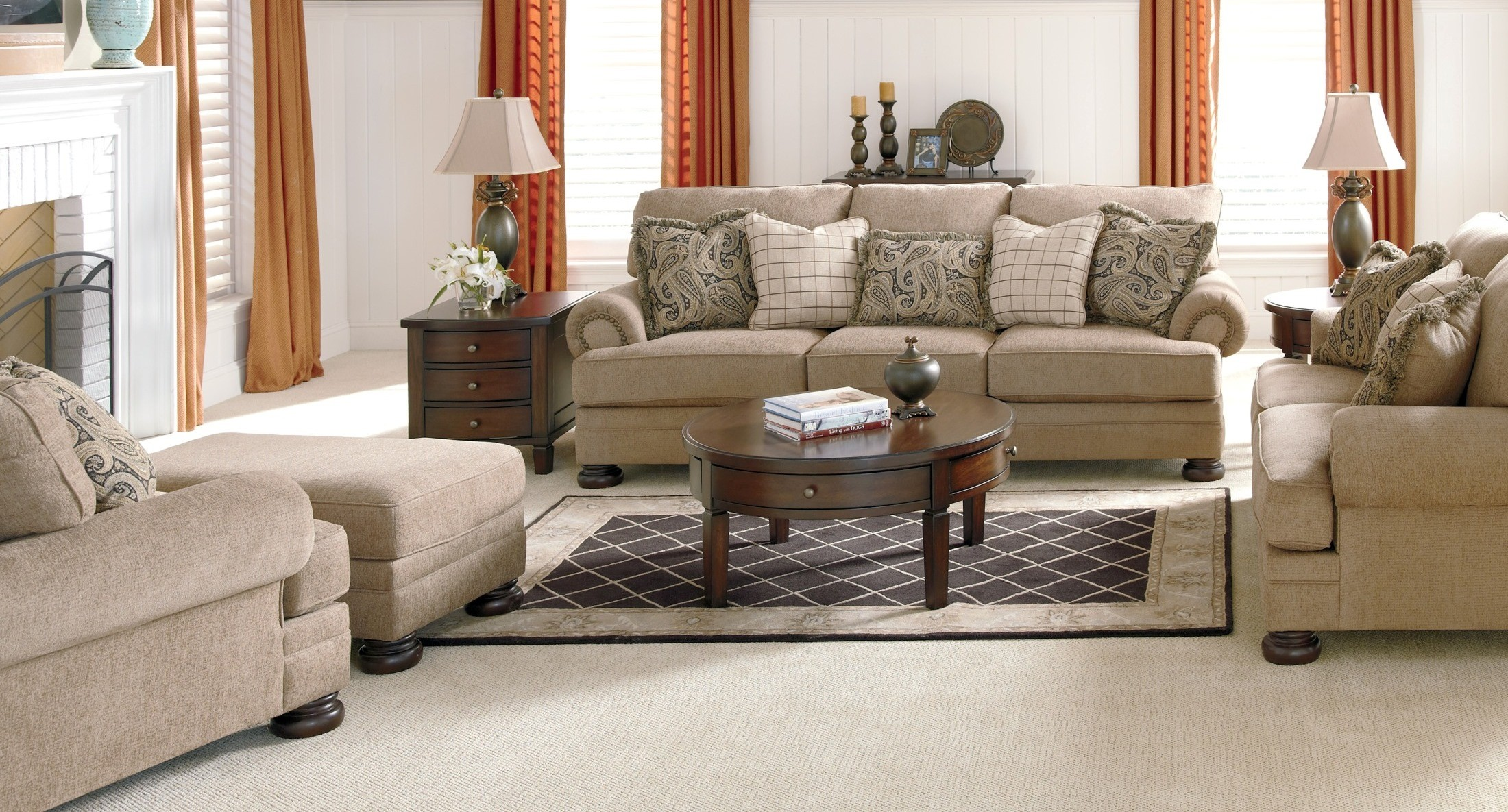 keereel sand living room set from ashley 38200 coleman furniture