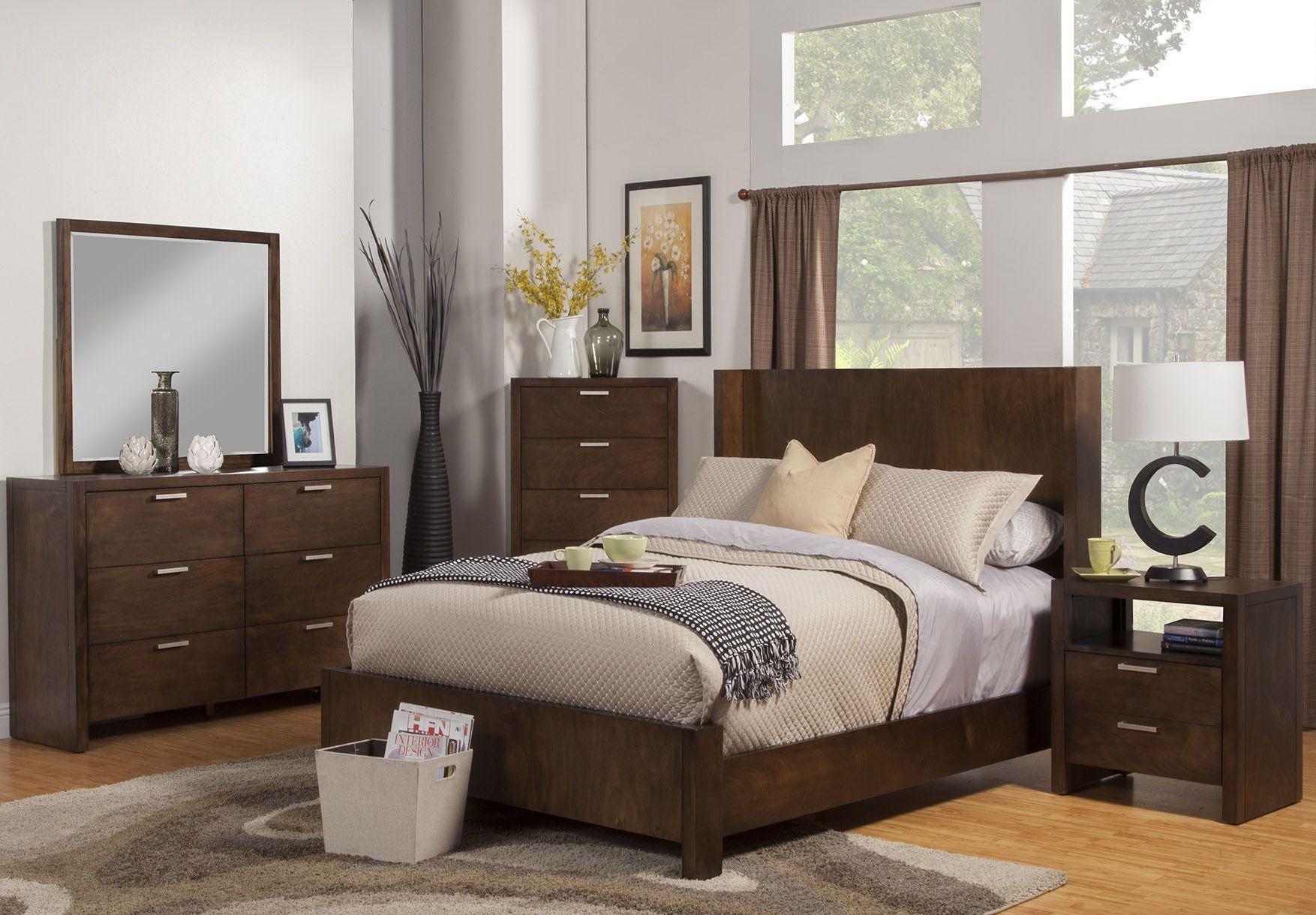 austin chestnut shelter panel bedroom set 1600 01q alpine
