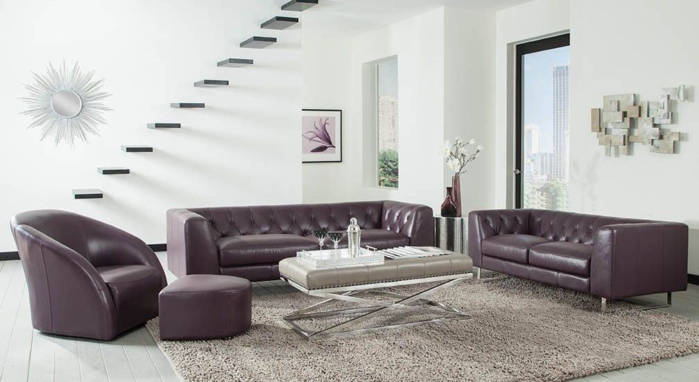 Plum Living Room Set Modern House