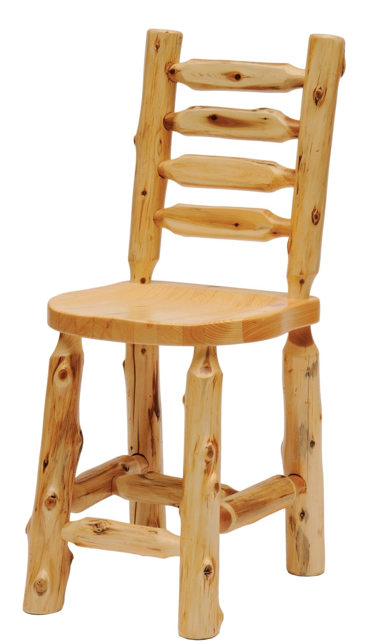 Counter Height Ladder Back Chairs : Cedar Ladder Back Counter Height Log Side Chair from Fireside Lodge ...